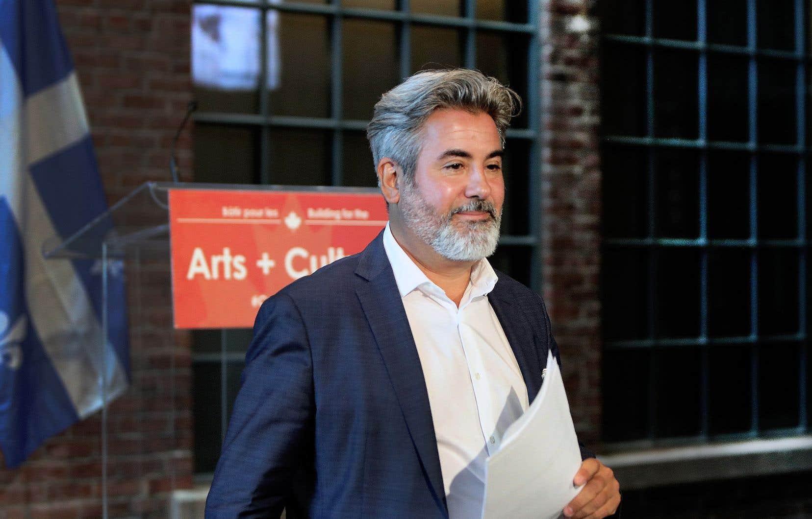 Le ministre du Patrimoine canadien, Pablo Rodriguez, était à Montréal afin de faire une annonce de financement pour le secteur des arts, de la culture et du patrimoine.