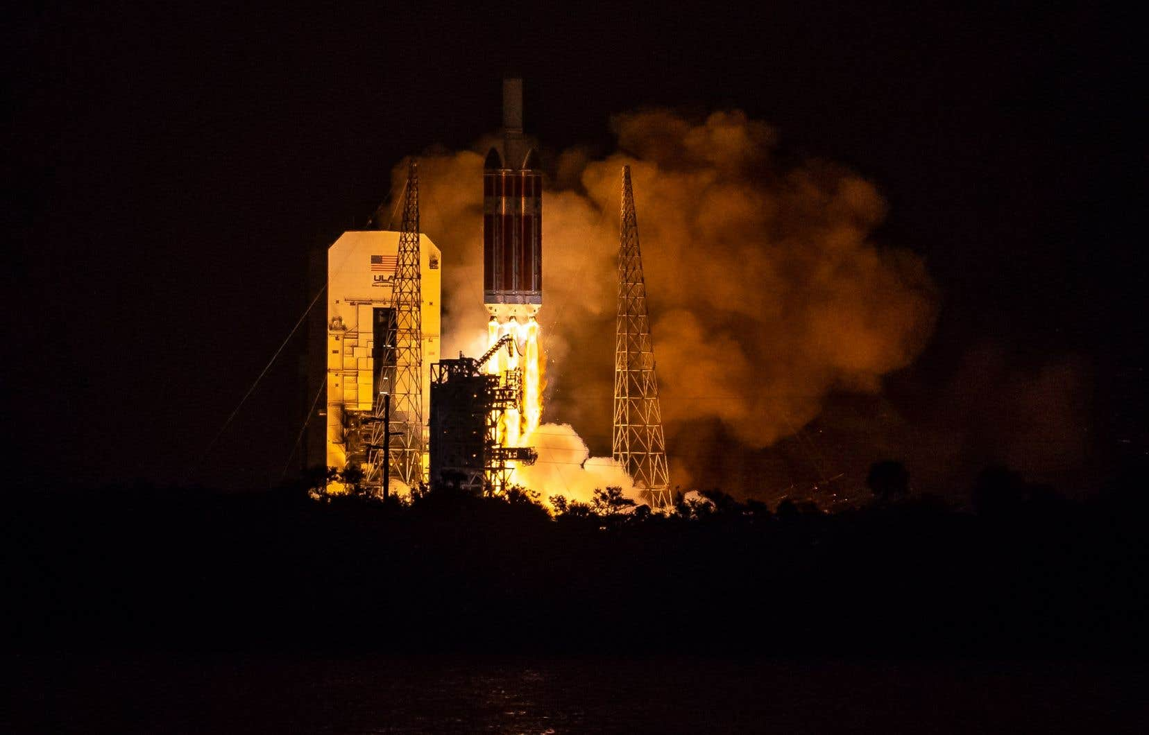 La fusée de lancement «Delta IV-Heavy» s'est élevée du pas de tir de Cap Canaveral à 3 h 31, heure locale.