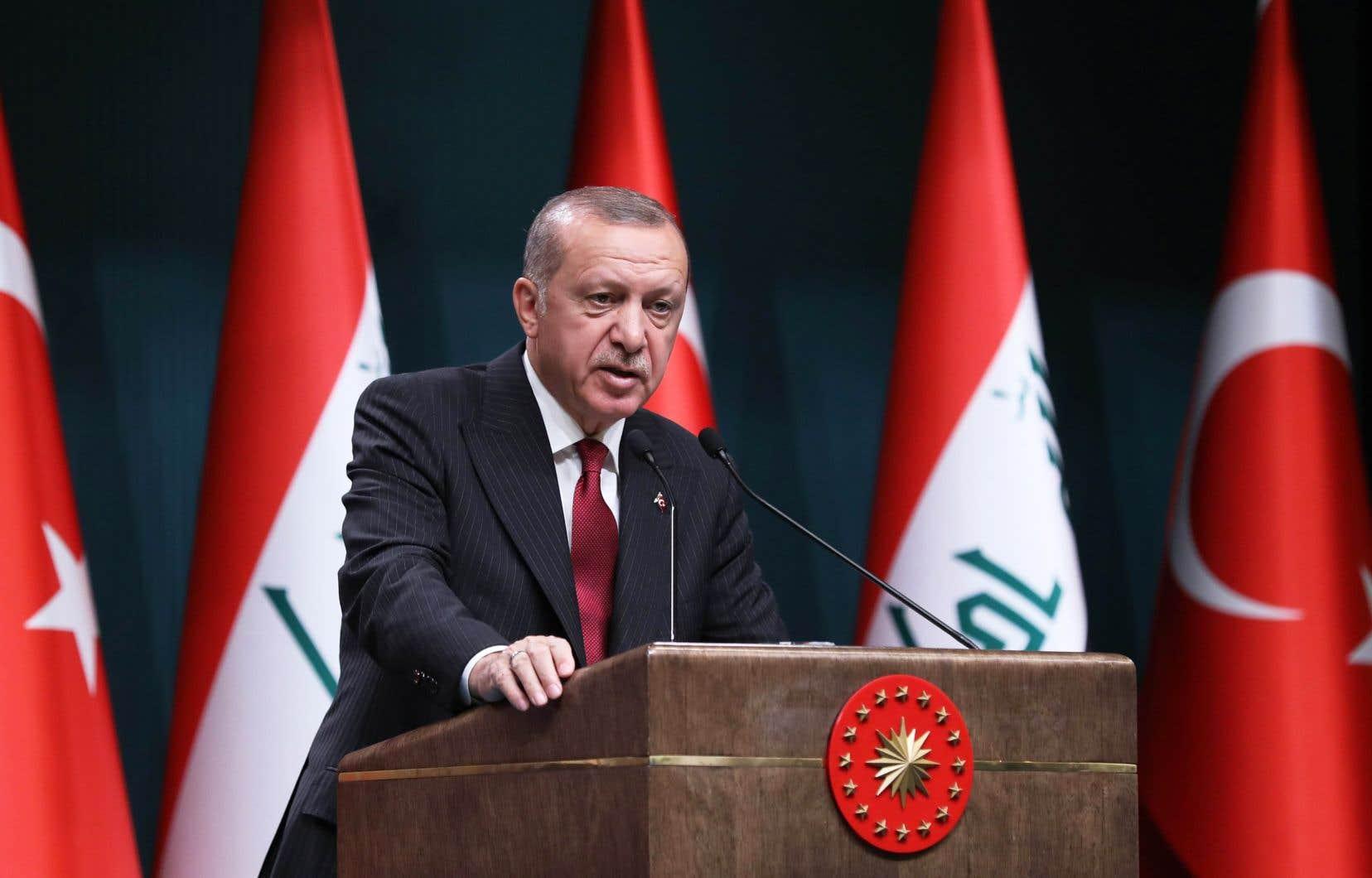 Le président turc, Recep Tayyip Erdogan, mardi