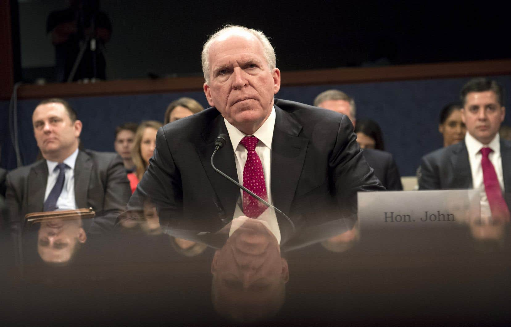 L'ancien patron de la CIA de 2013 à 2017 John Brennan lors de son témoignage devant le Congrès américain, en mai 2017