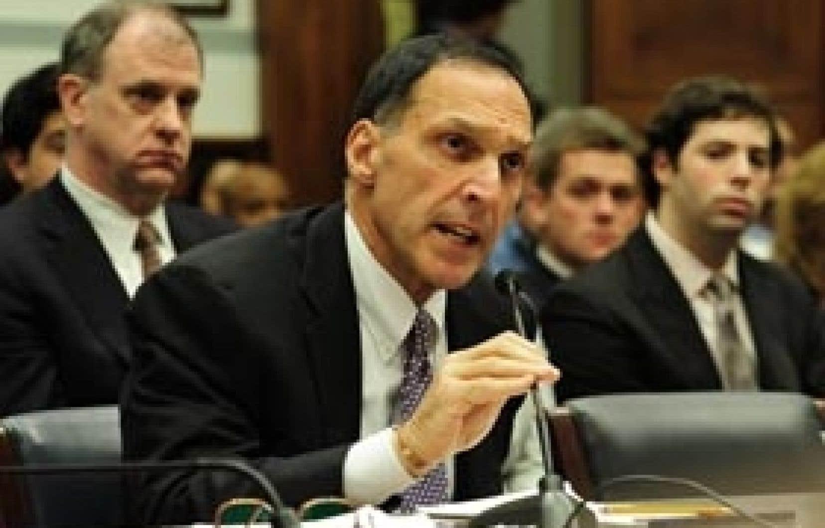 Le chef de la direction de Lehman Brothers, hier, lors de son témoignage devant la commission de surveillance de la Chambre des représentants
