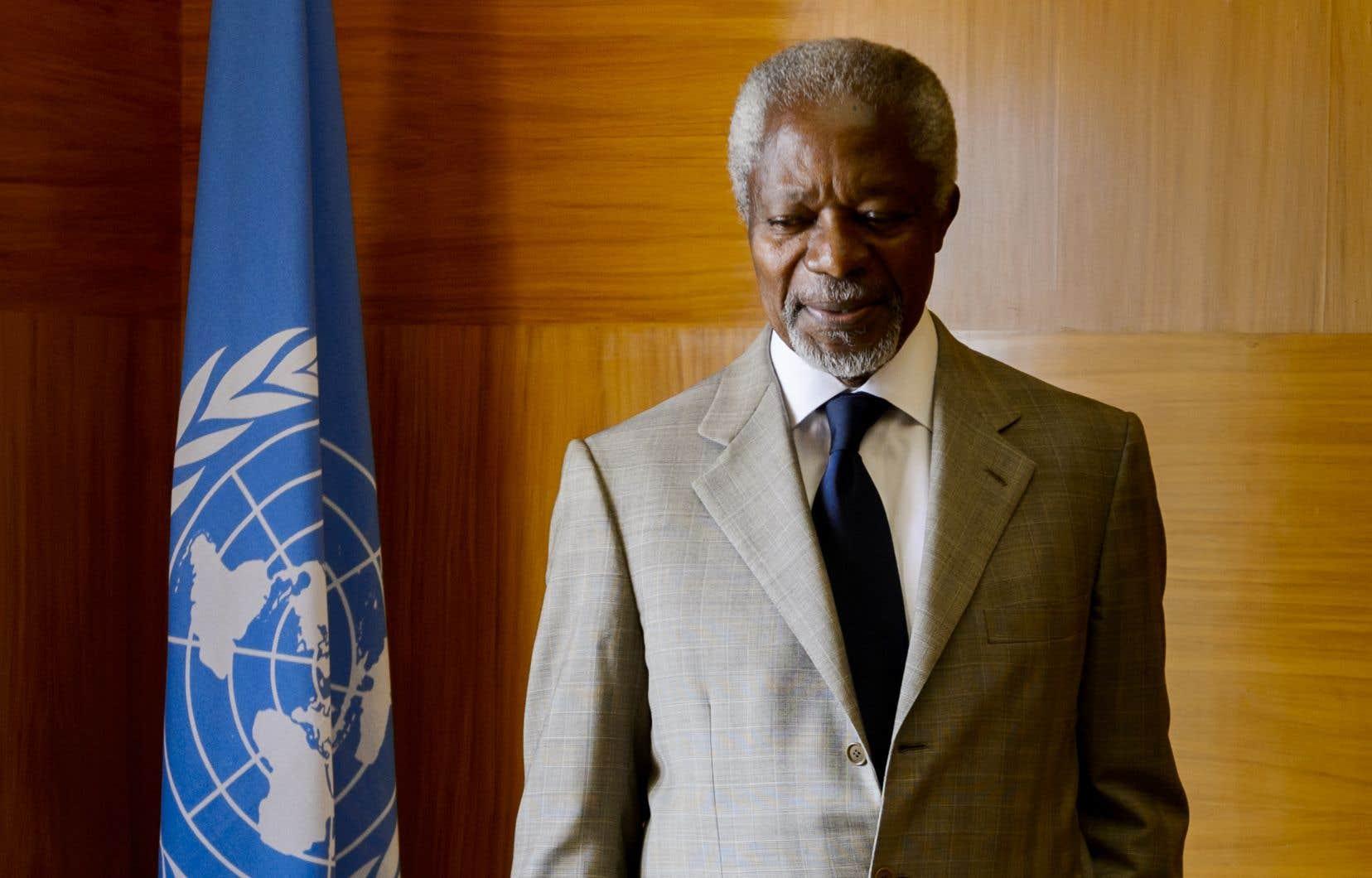 L'ancien secrétaire général de l'ONU et prix Nobel de la paix Kofi Annan en 2012