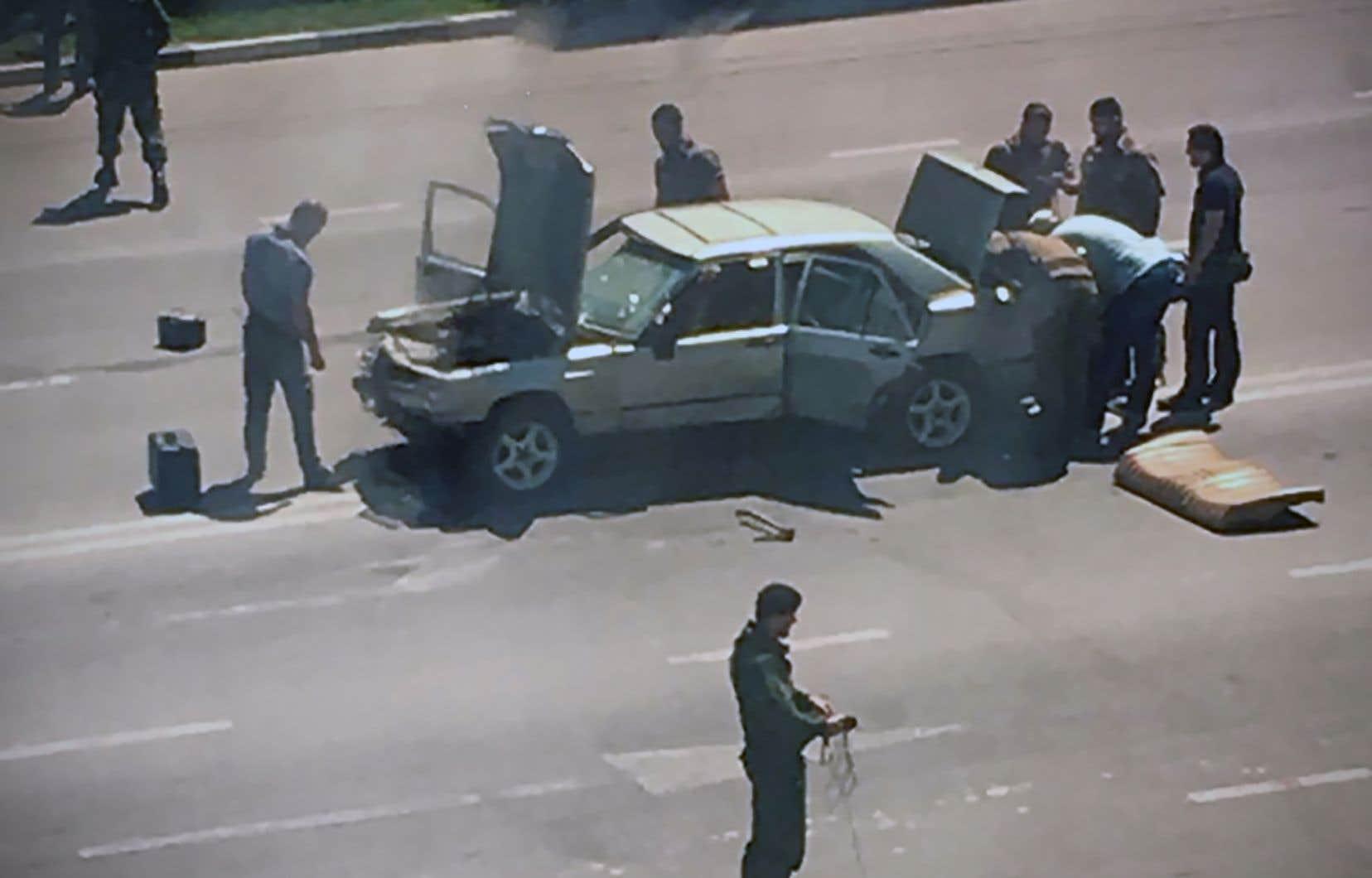 Selon le dirigeant tchétchène Ramzan Kadyrov, «des agents de la circulation ont reçu des blessures» à Grozny, la capitale.