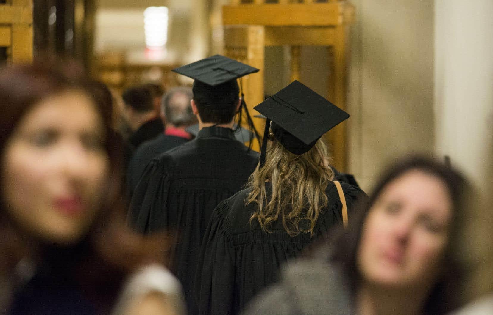 Le Québec est passé de 5% de titulaires d'un grade universitaire en 1971 à plus de 20% en 2016.