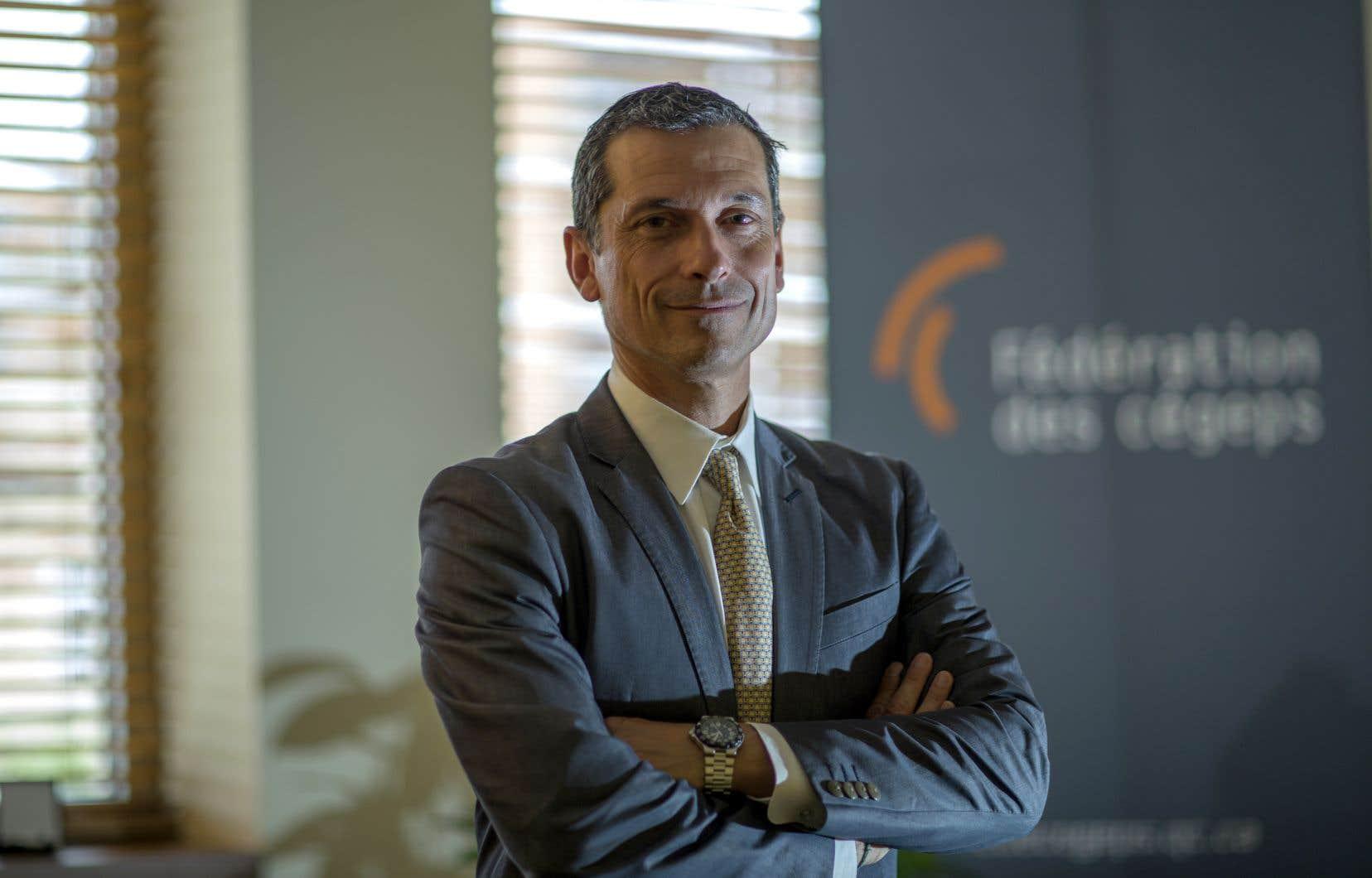 Bernard Tremblay, président-directeur général de la Fédération des cégeps