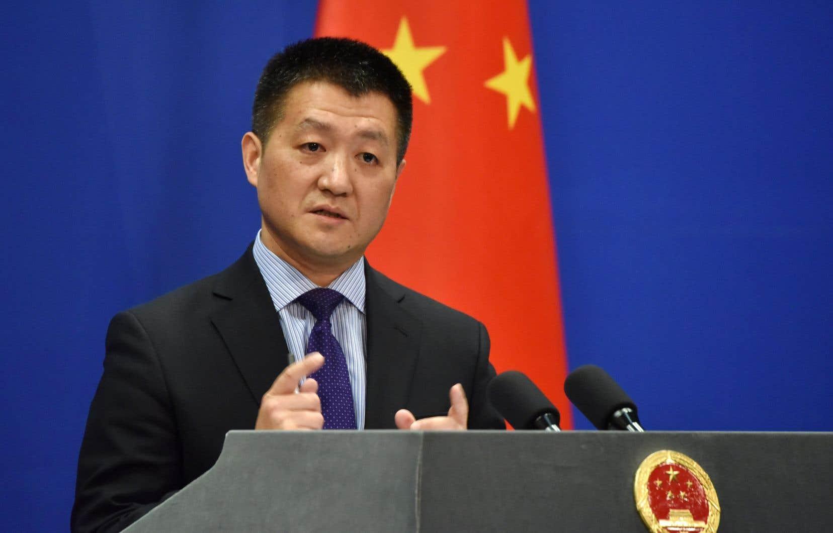 Leporte-parole du ministère chinois des Affaires étrangères, Lu Kang