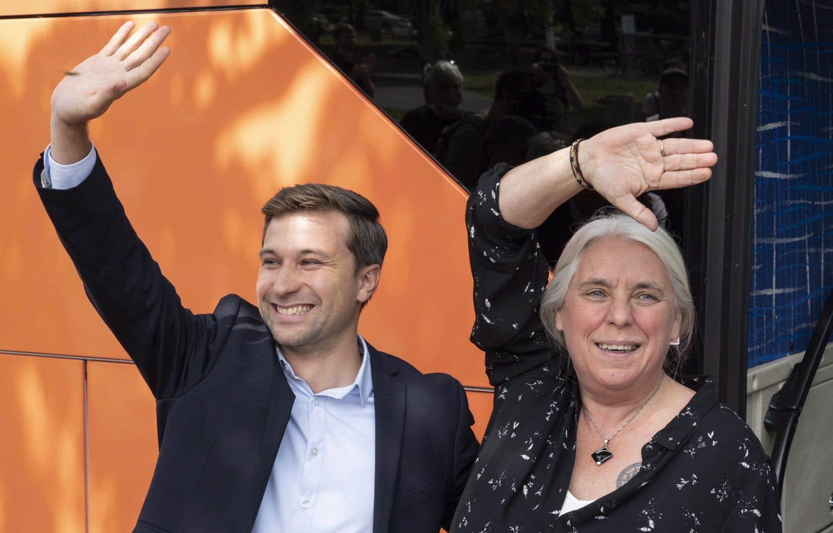 Les co-porte-parole de Québec solidaire, Gabriel Nadeau-Dubois et Manon Massé