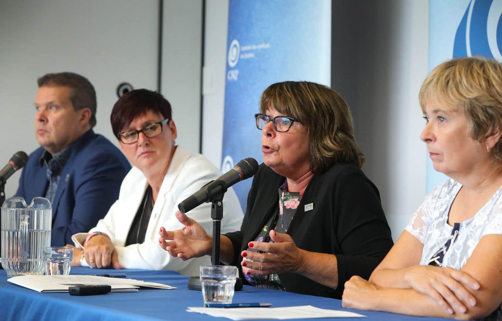 La présidente de la Centrale des syndicats du Québec,Sonia Éthier
