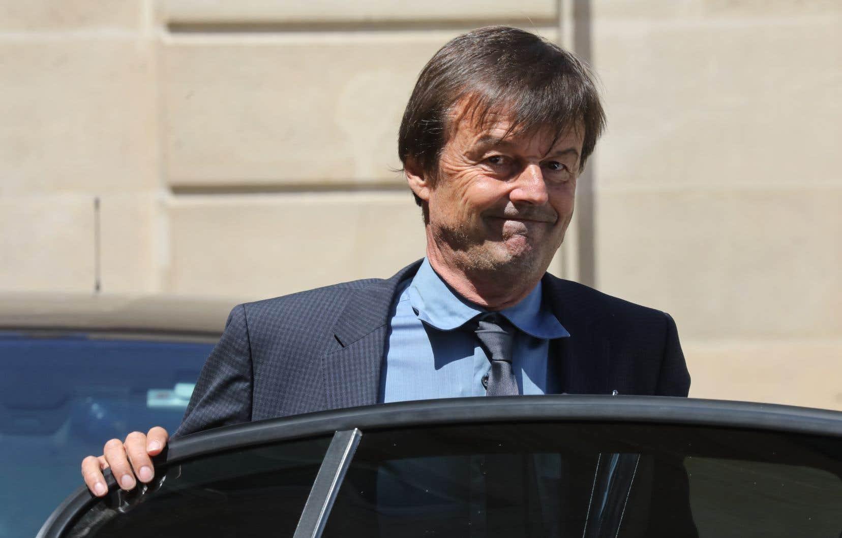 Le ministre français de la Transition écologique Nicolas Hulot a jeté l'éponge mardi.