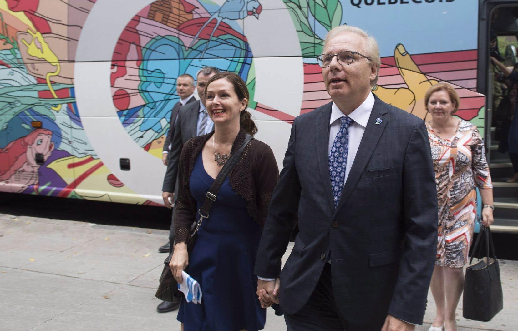 Le leader du Parti québécois estime qu'il y a «deux zones de danger» dans les négociations actuelles autour de l'ALENA; il craint l'abandon des quotas de lait et de l'exception culturelle.