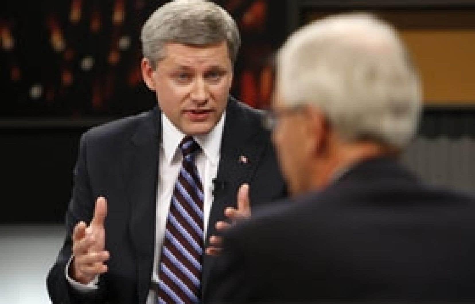 Selon les experts consultés, Stephen Harper a atteint ses objectifs au cours du débat en anglais.