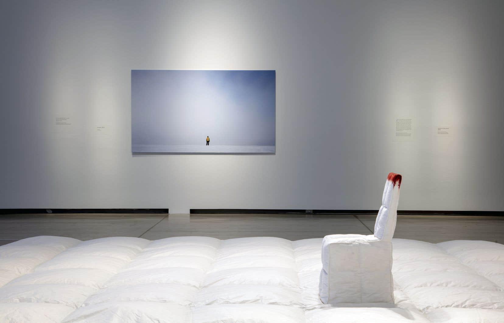 Rebecca Belmore, «Blood on the Snow», 2002. En plus de son travail sur l'image, l'artiste œuvre aussi en sculpture.