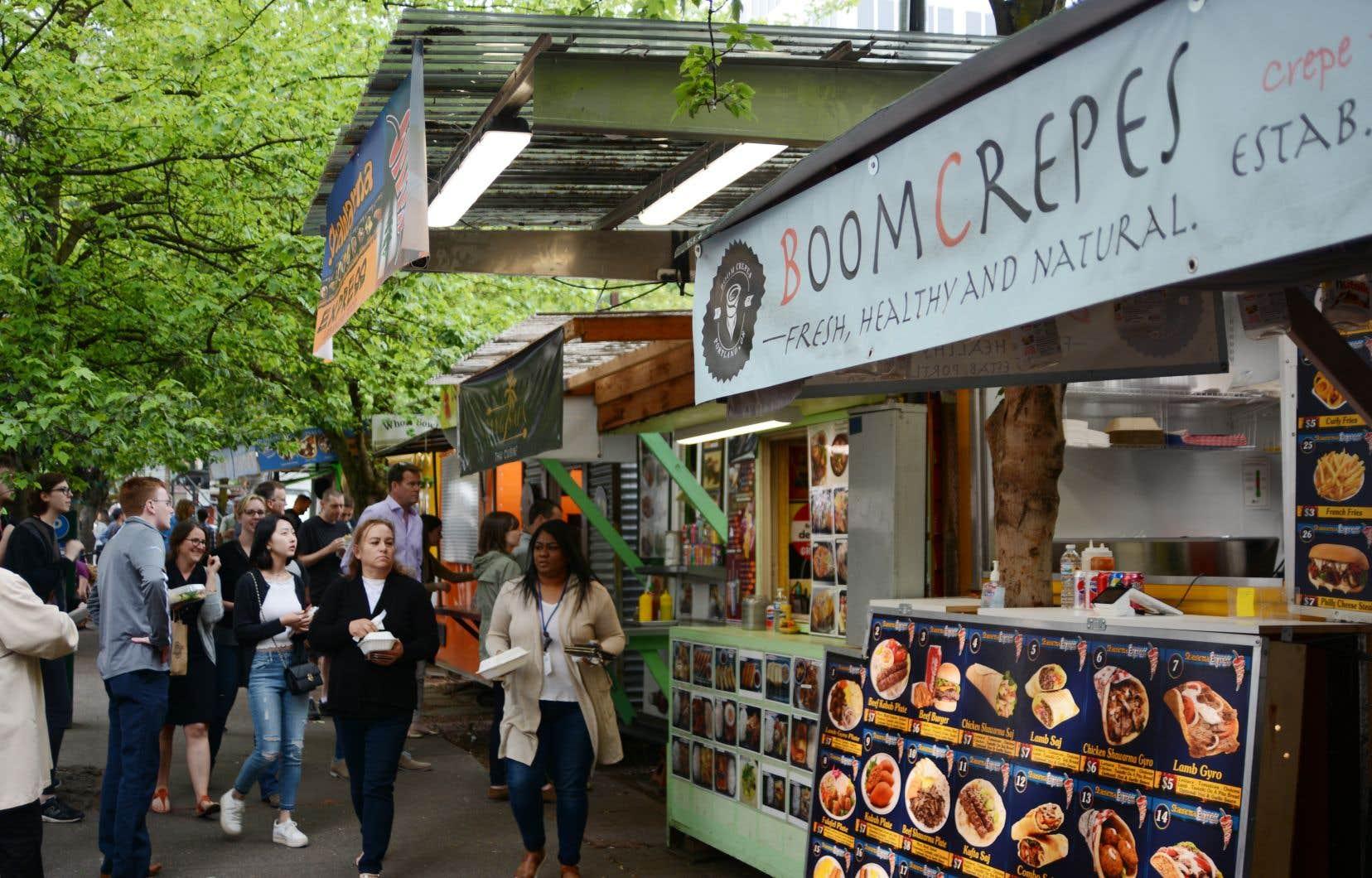Pas moins de 600 restaurateurs sur roues proposent leurs plats aux quatre coins de Portland.