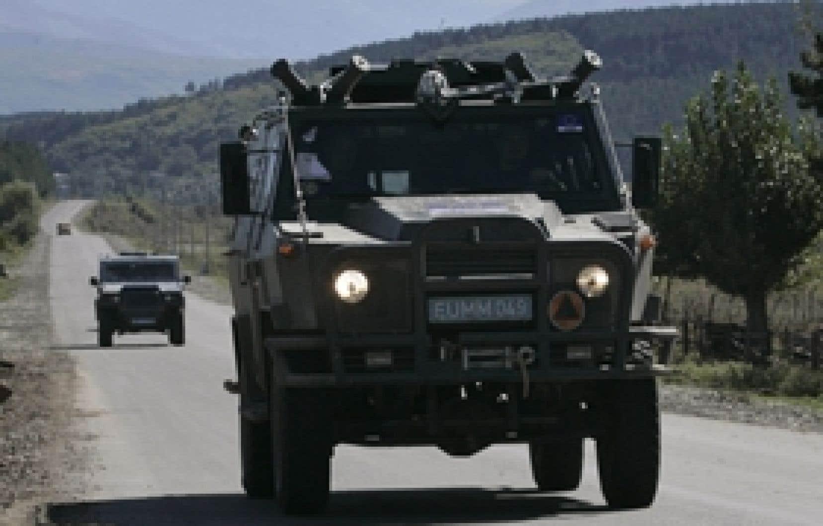 Une mission d'observateurs de l'Union européenne est présentement déployée en Géorgie.