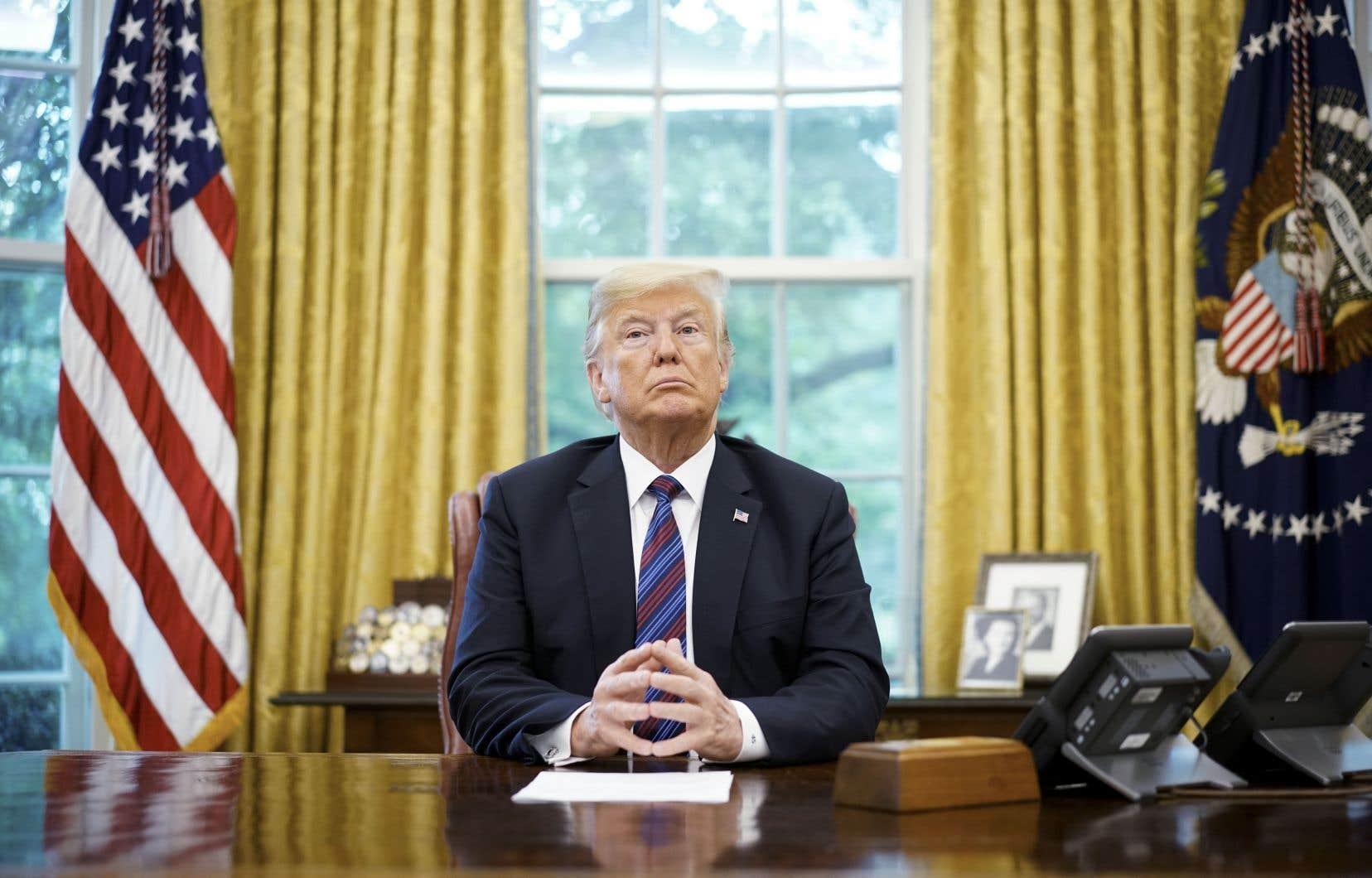 Donald Trump a déclaré samedi qu'il n'y avait «aucune nécessité sur le plan politique» d'inclure le Canada dans la nouvelle version de l'ALENA.