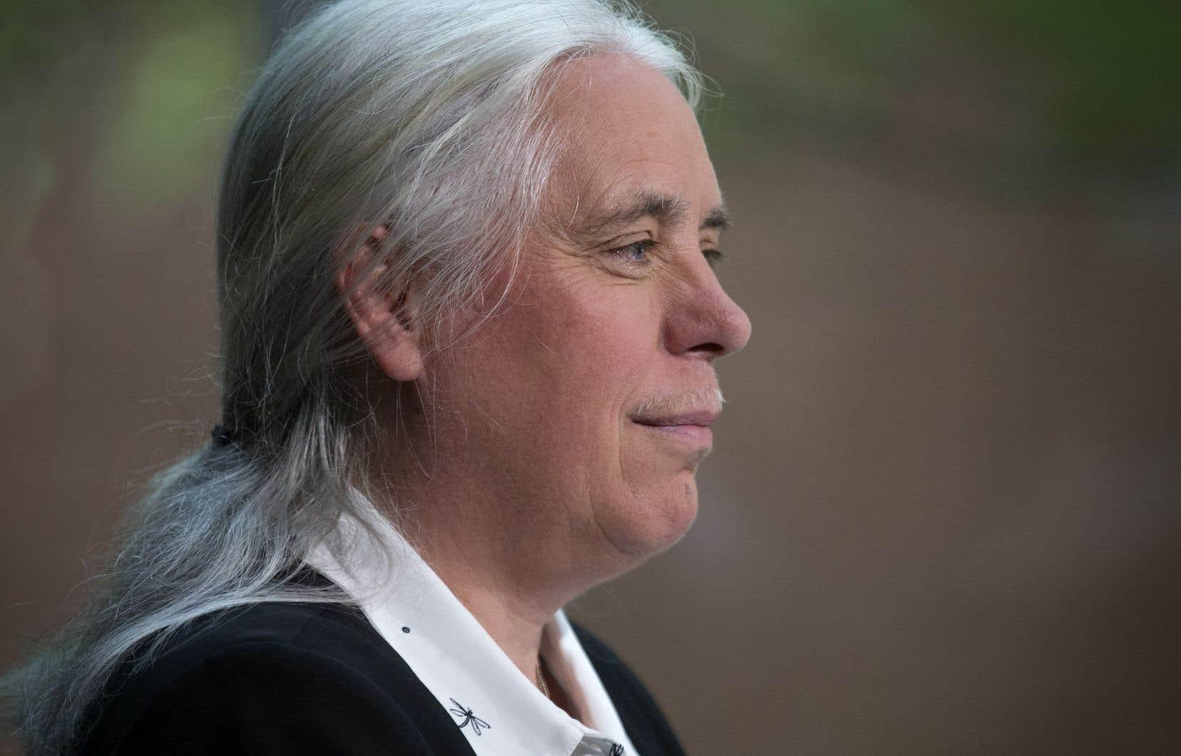 Manon Massé, la candidate de Québec solidaire au poste de première ministre