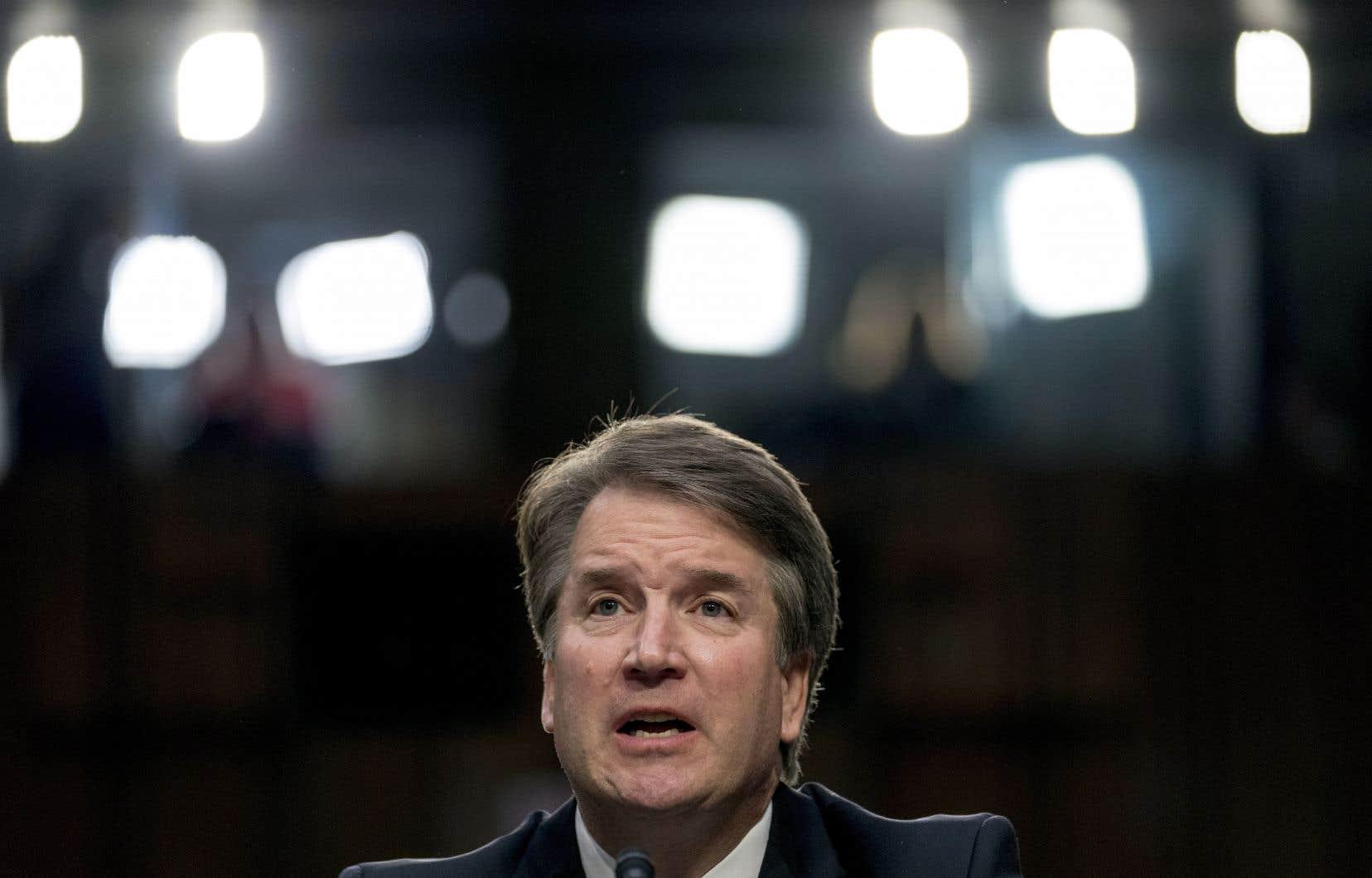 Le candidat de Donald Trump à la Cour Suprême, Brett Kavanaugh, mardi au Capitole des États-Unis