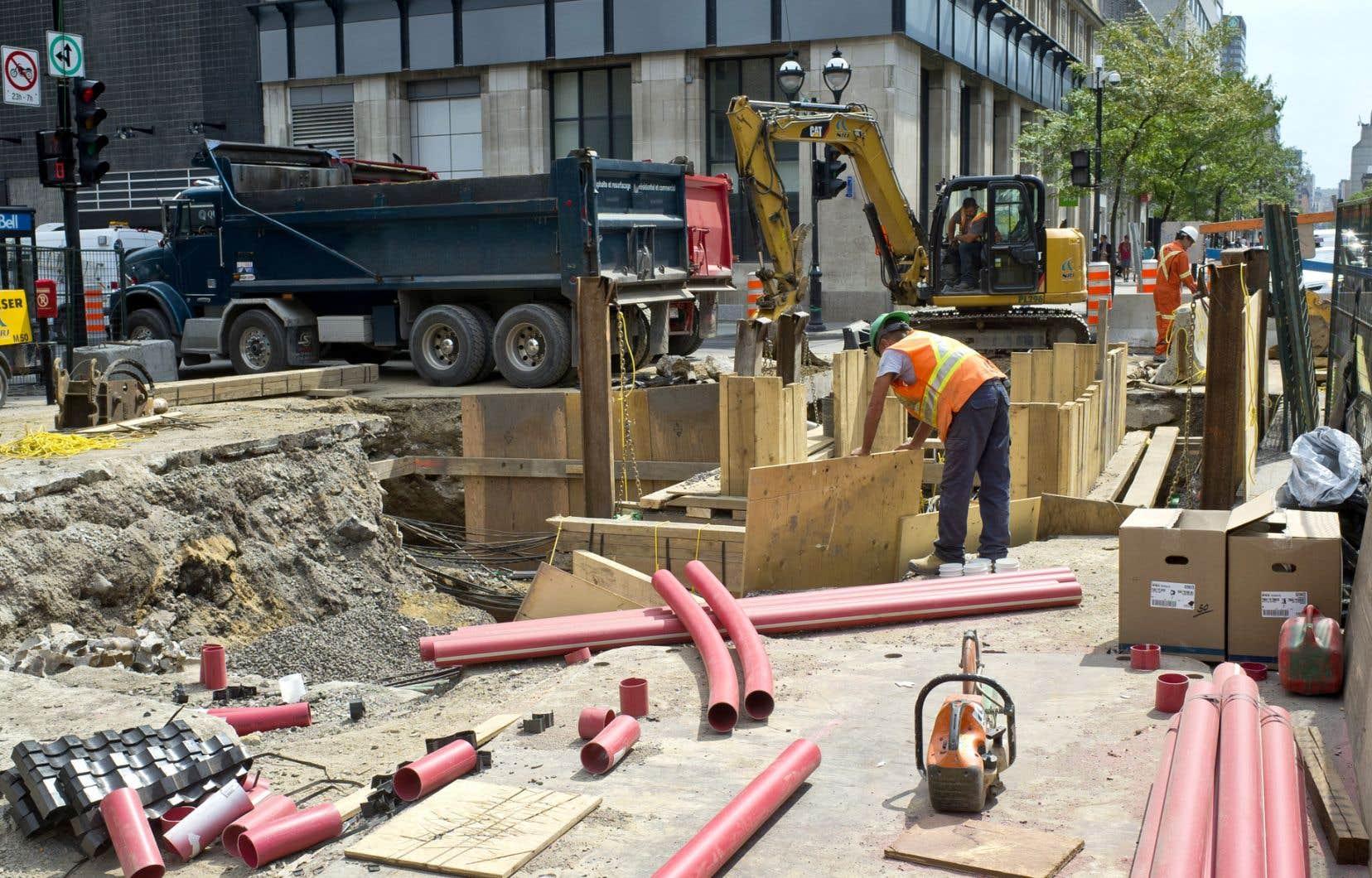 L'état actuel du marché de la construction est saturé, en raison des nombreux chantiers déjà existants à Montréal.