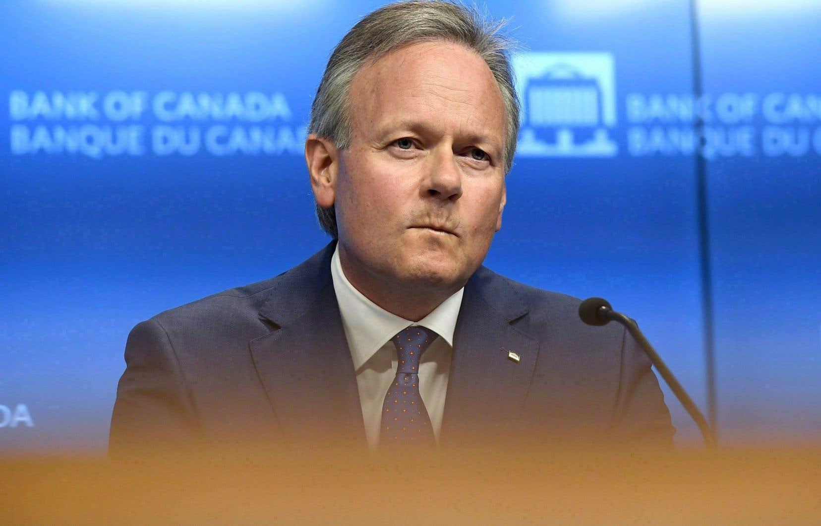 Le gouverneur de la Banque du Canada, Stephen Poloz, a relevé le taux directeur à quatre reprises depuis la mi-2017.