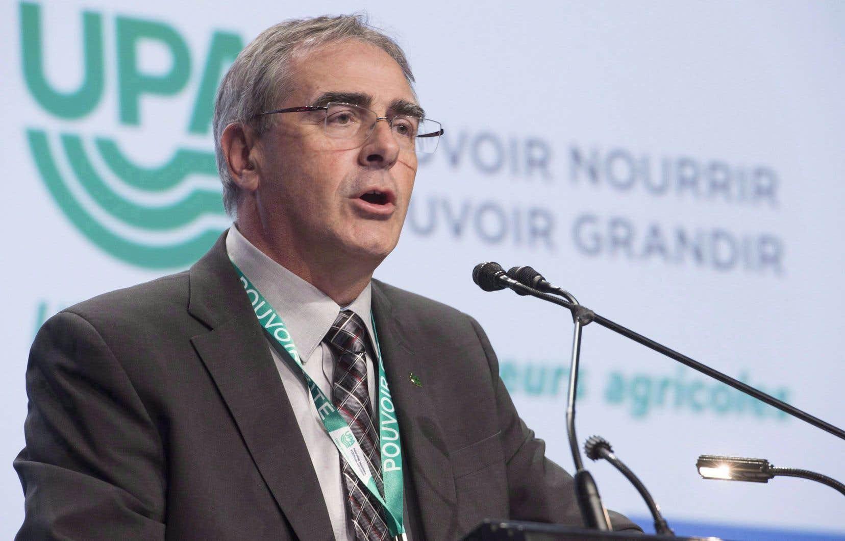 Le président de l'UPA, Marcel Groleau