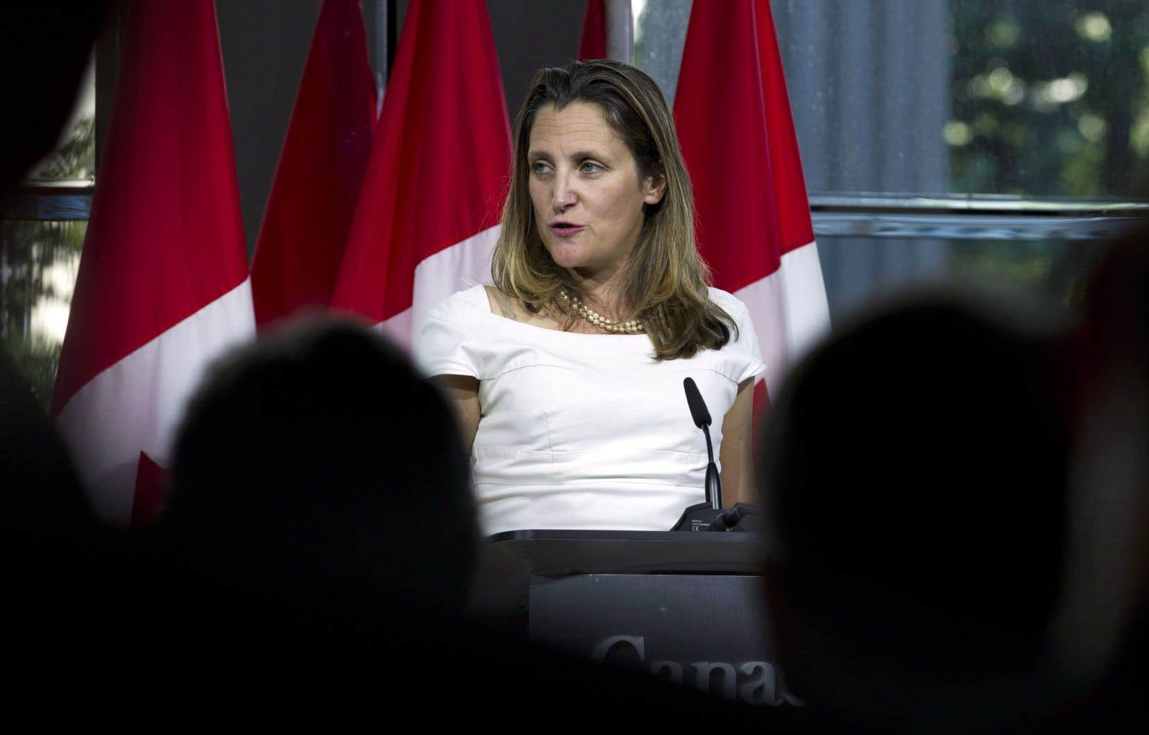 Comme à son habitude, la ministre canadienne des Affaires étrangères, Chrystia Freeland, a offert peu de détails sur l'état des négociations.
