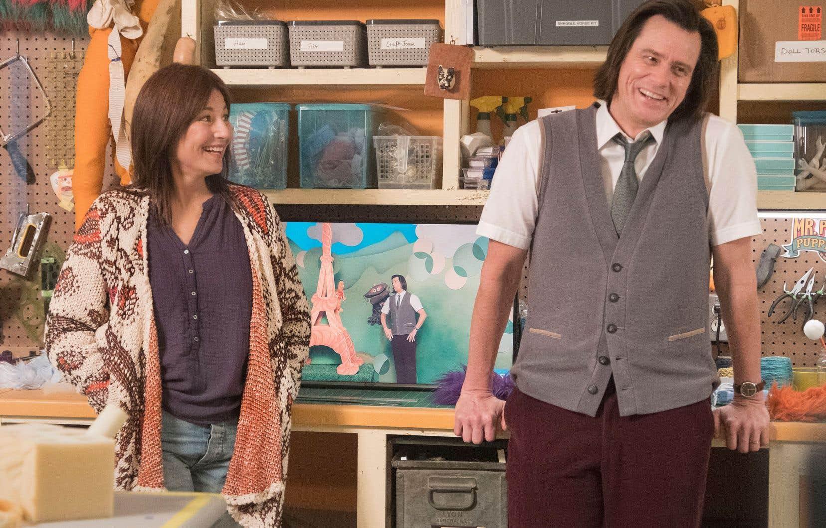 Jeff, alias Mr. Pickles (Jim Carrey), désire aborder des sujets plus sérieux avec ses jeunes téléspectateurs, tandis que Deirdre (Catherine Keener), responsable de ses décors, préférerait le contraire.