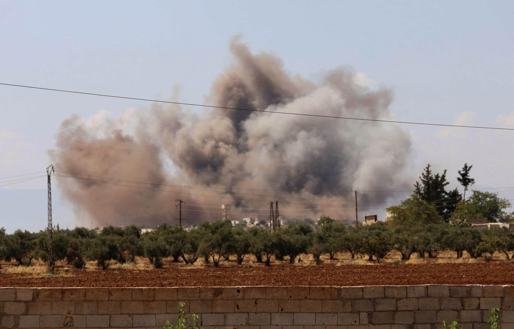 L'aviation russe et les forces loyalistes du régime de Bachar al-Assad ont entamé ce weekend le pilonnage de la province d'Idleb.