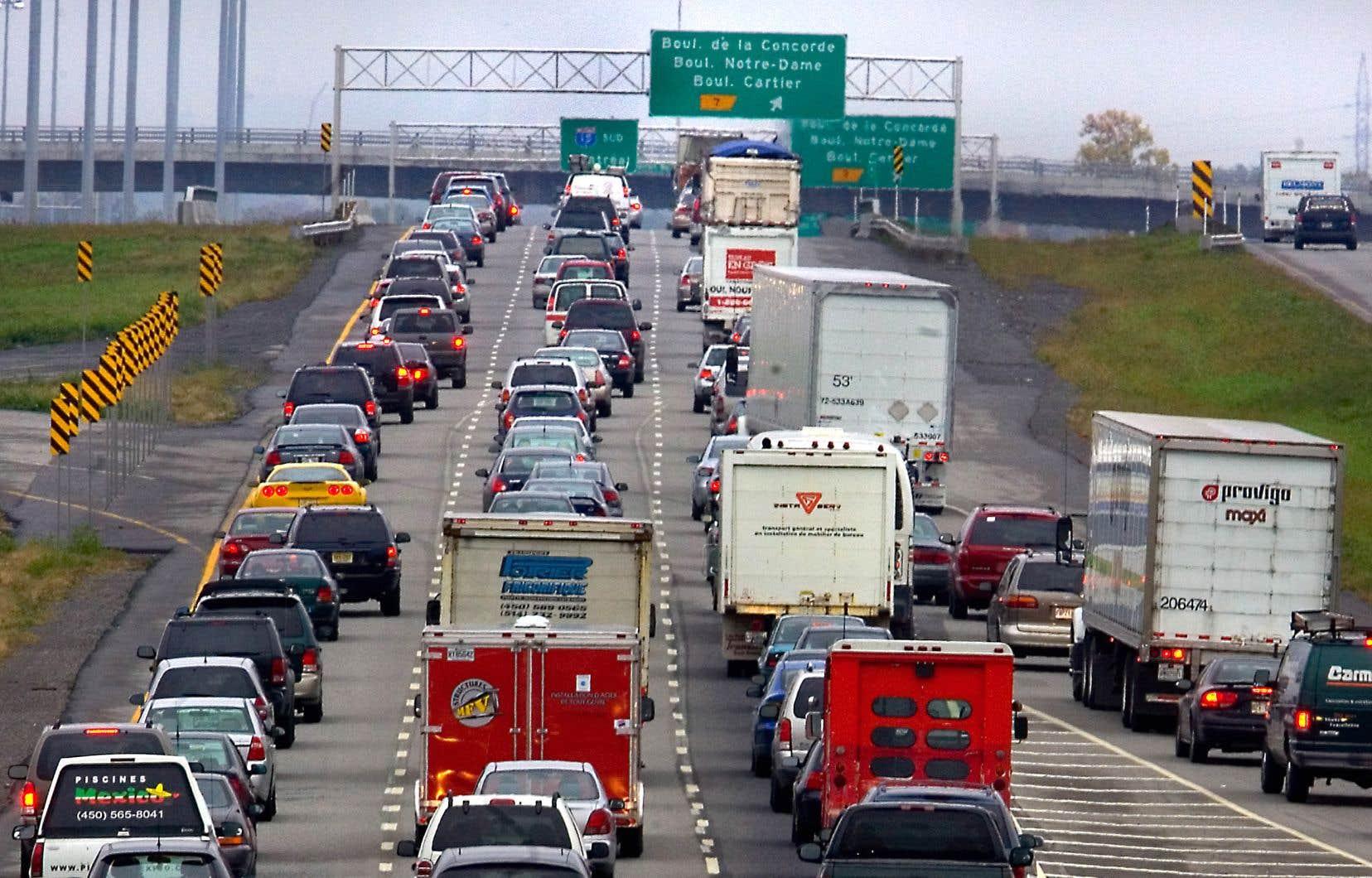 Les coûts de la congestion routière pourraient atteindre 4,2milliards en 2018 dans la grande région de Montréal, soit le double d'il y a 10ans.