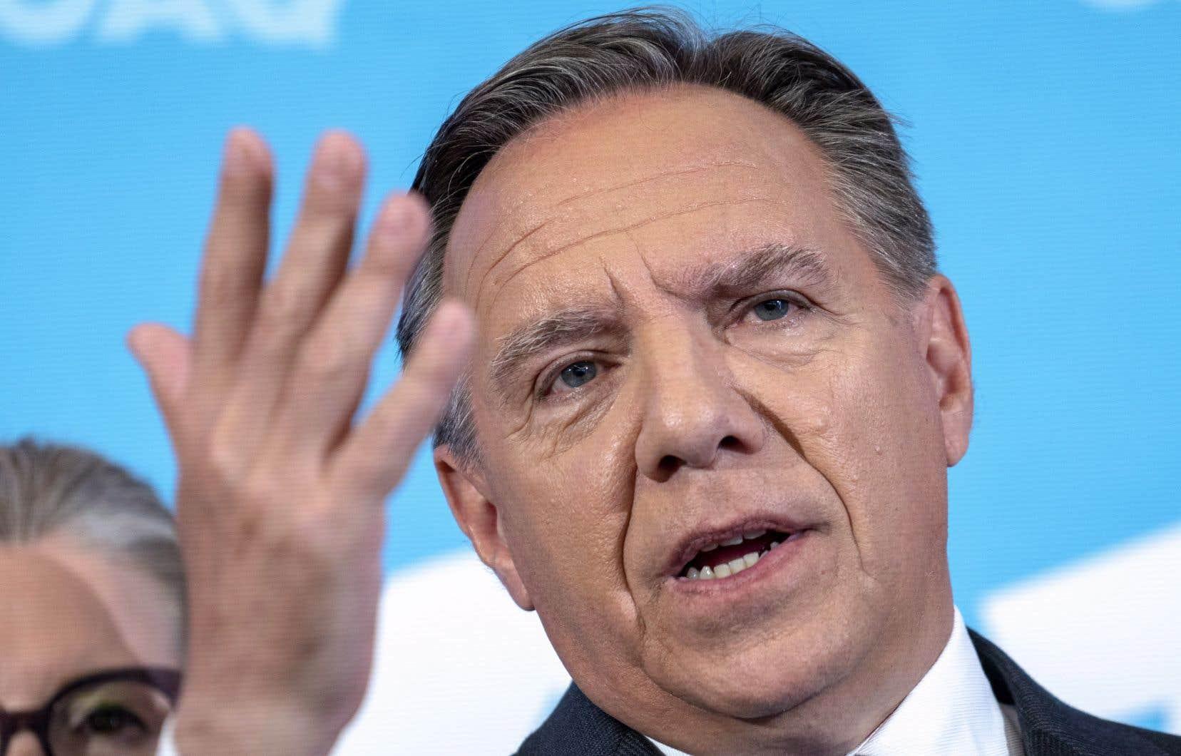 L'opération s'inscrivait dans le fil narratif d'une campagne où François Legault met en avant la nécessité pour le Québec de réduire de près de 23% le nombre d'immigrants accueillis au Québec dès 2019.