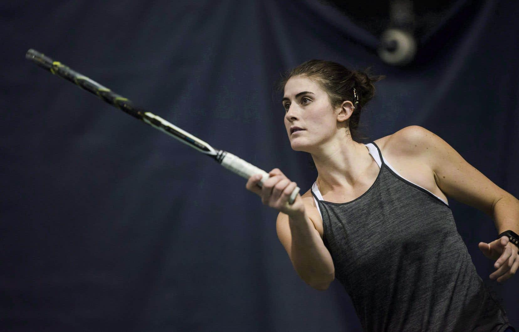 La Canadienne Rebecca Marino à l'entraînement, en 2017