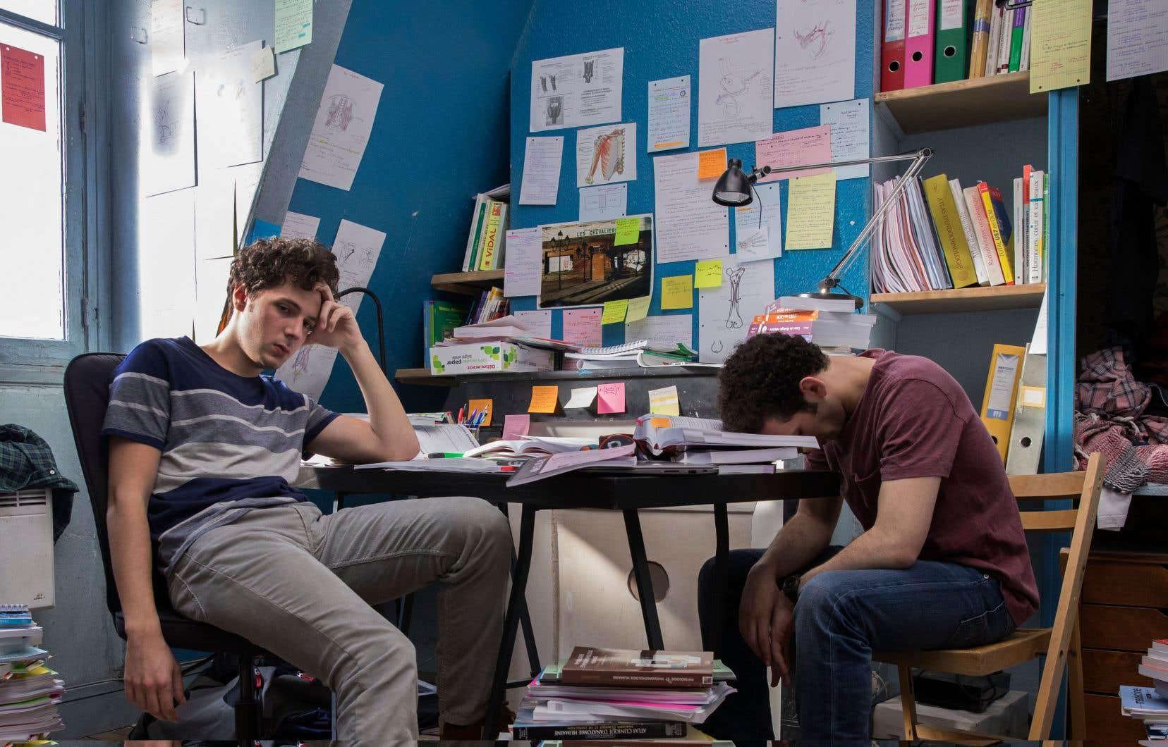 L'amitié entre les deux protagonistes s'offre en contrepoids à la bataille digne du sauve-qui-peut qui s'instaure dans la comédie dramatique «Première année».