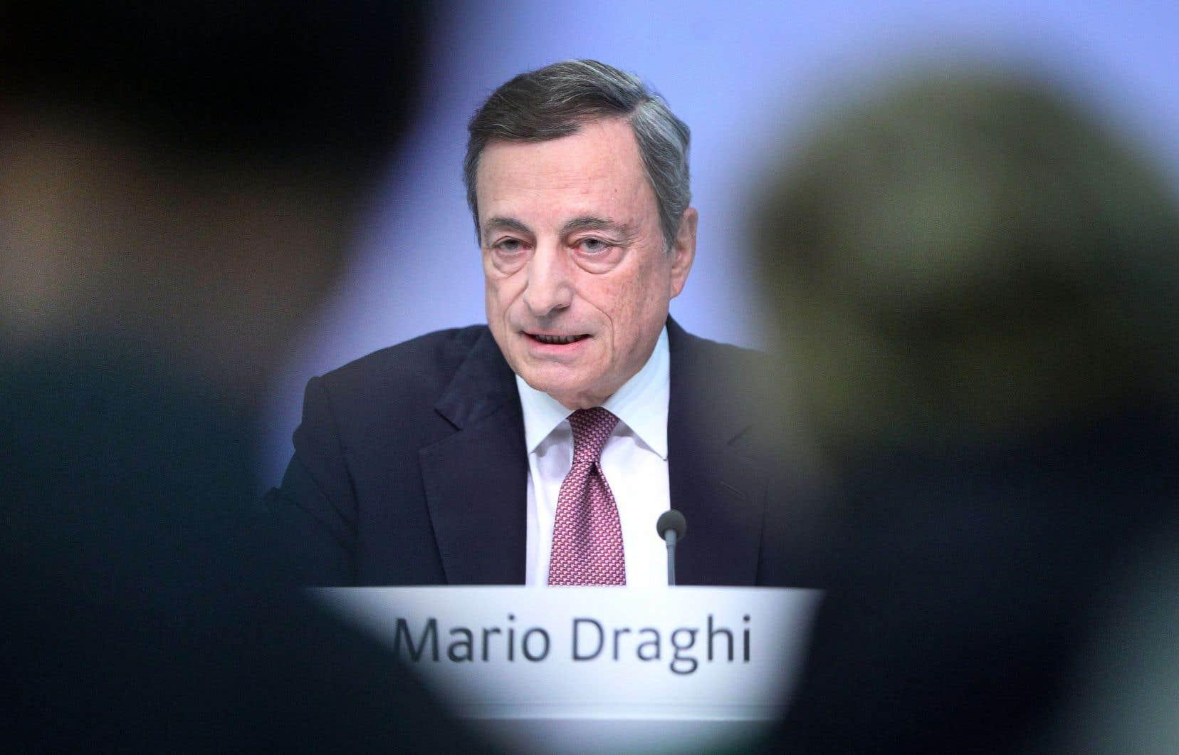 «Le protectionnisme croissant» figure toujours au premier rang des préoccupations, a rappelé Mario Draghi, président de la Banque centrale européenne.
