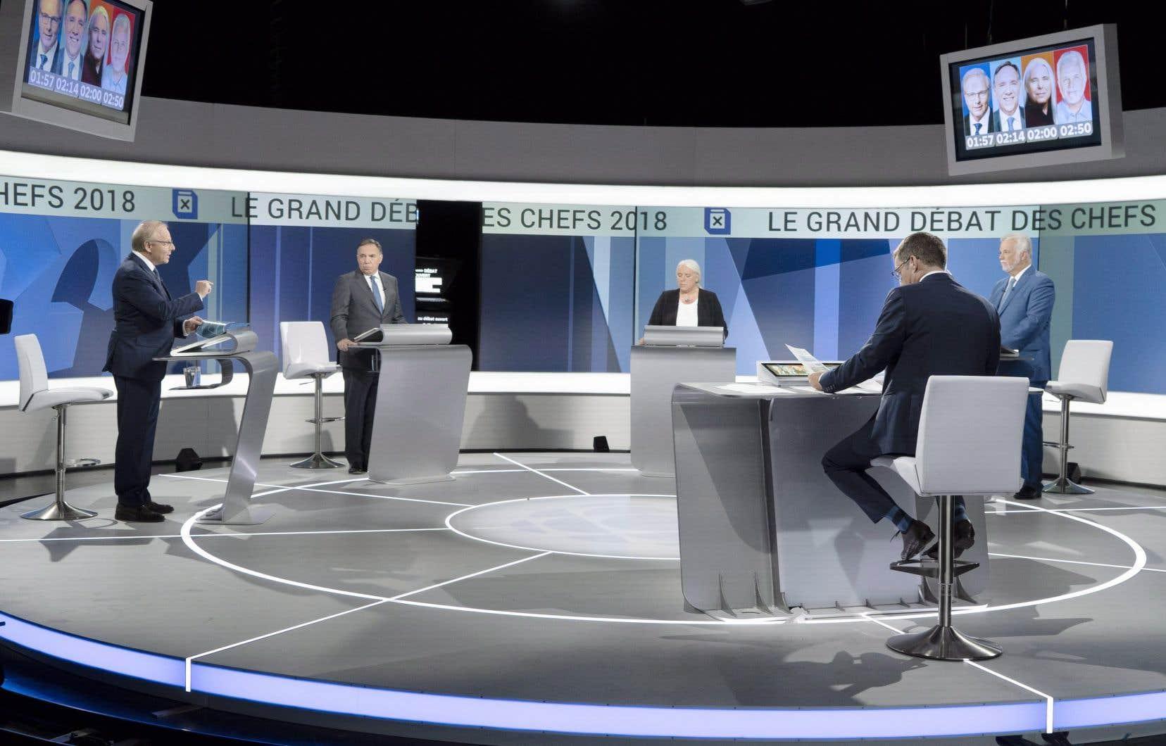 Actuellement, seuls les partis politiques qui sont représentés à l'Assemblée nationale sont invités à prendre part au débat télévisé.