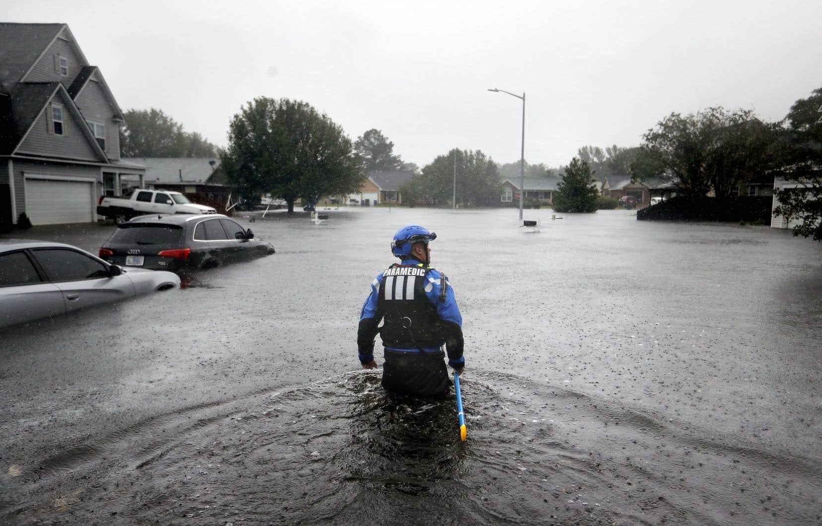 La Caroline du Nord est l'État le plus touché par les inondations.