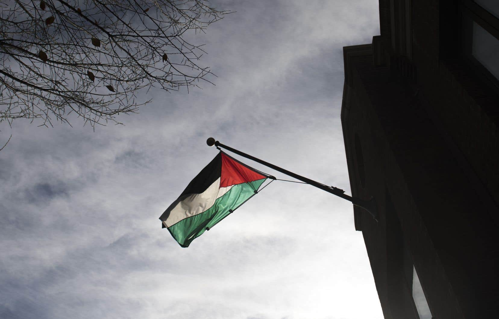 Le bureaude représentation de l'Organisation de libération de la Palestine (OLP) à Washington, dont le département d'État américain a annoncé la fermeture le 10septembre.