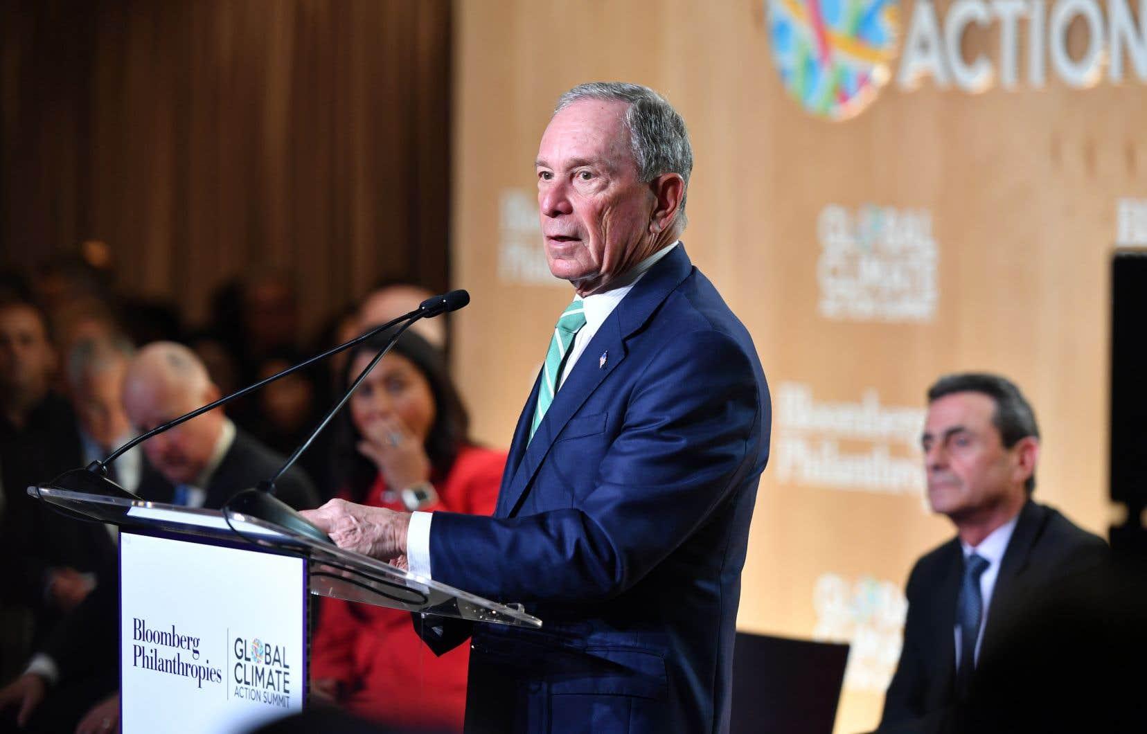 Depuis l'avènement de Donald Trump, Michael Bloomberg Bloomberg a fait de la lutte contre le changement climatique sa grande cause et dénonce l'ineptie des parlementaires républicains sur le sujet.