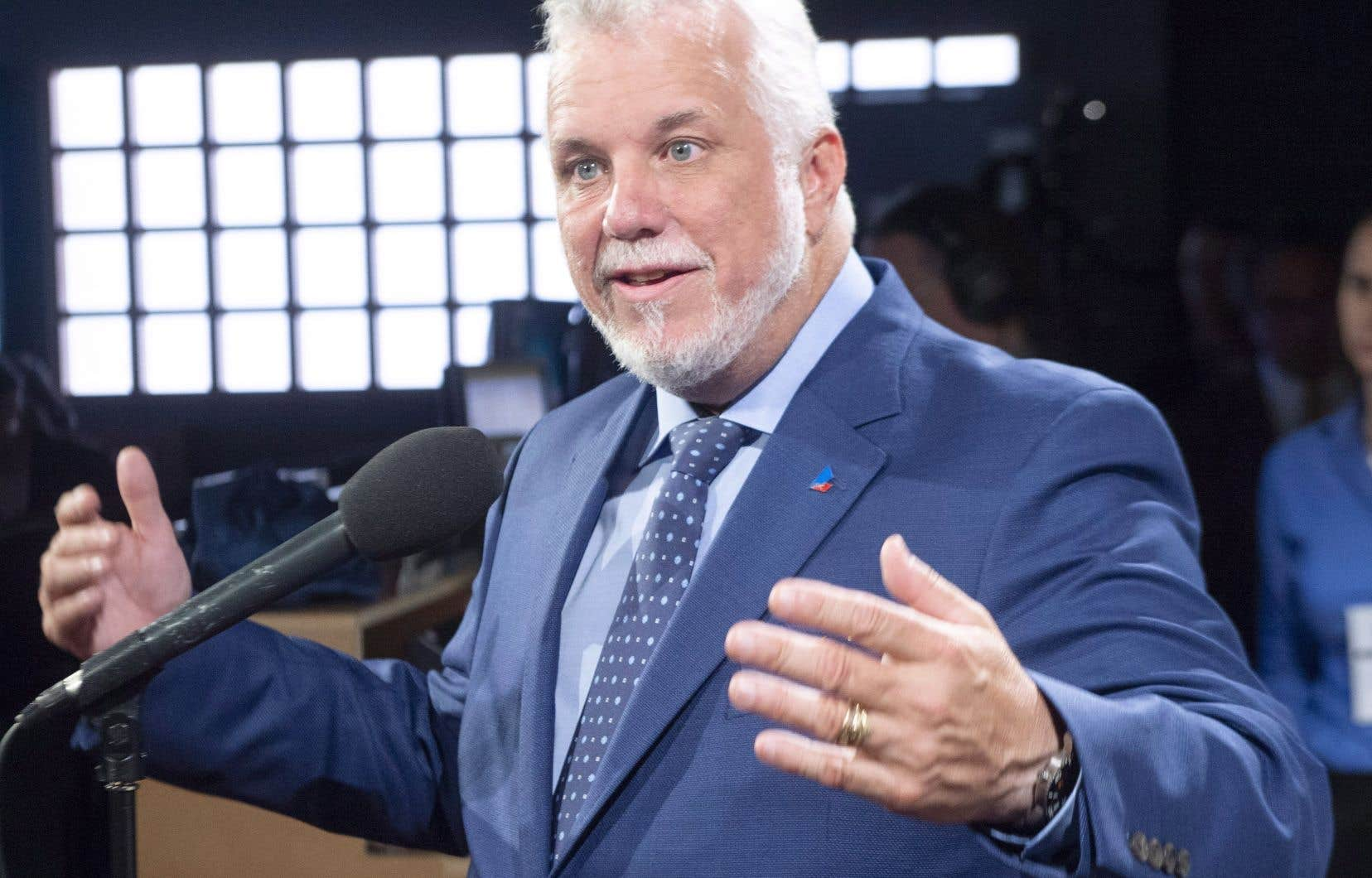 Le chef du PLQ, Philippe Couillard