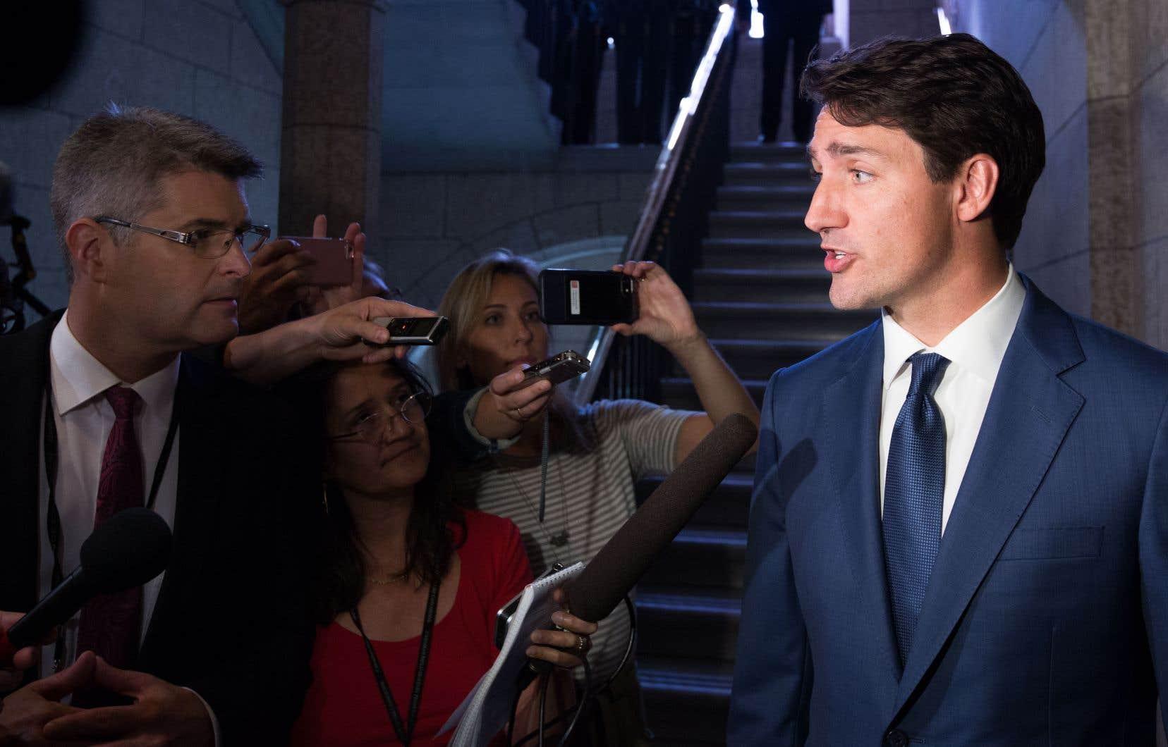 «On reste [persuadés du fait] qu'il y a toujours une piste [d'accord], mais ça va prendre encore du travail», a déclaré Justin Trudeau aux journalistes.