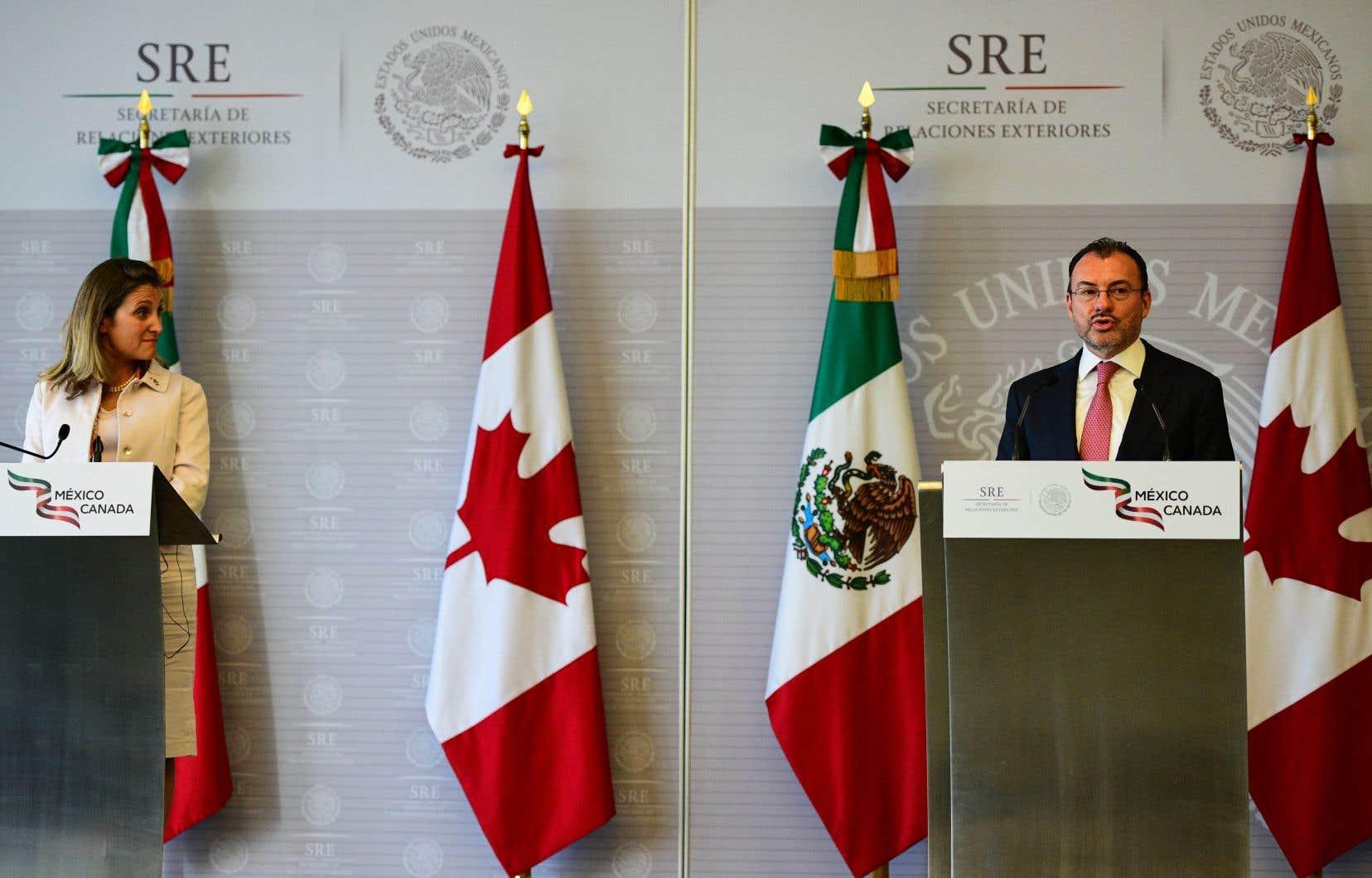 Le Canada a reconnu que le Mexique avait fait des concessions importantes dans son accord avec les États-Unis.