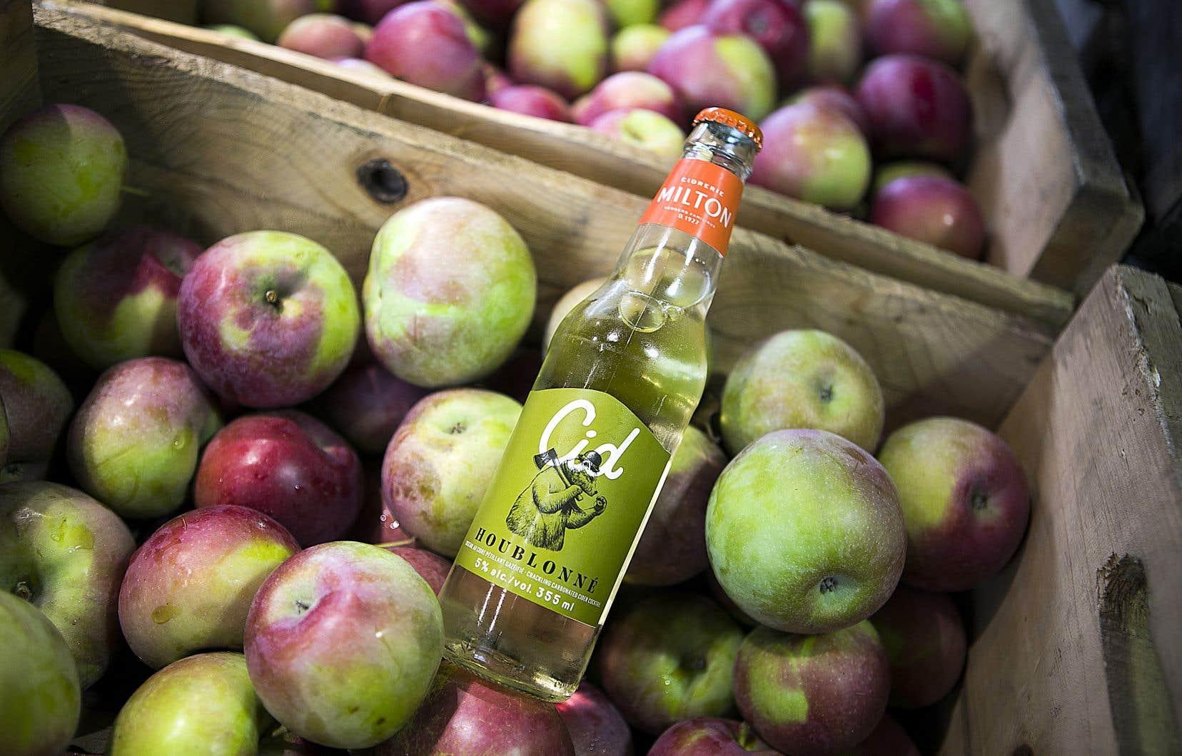 La recette du Cid Houblonné est réalisée à partir du jus extrait de pommes Macintosh et Spartan.