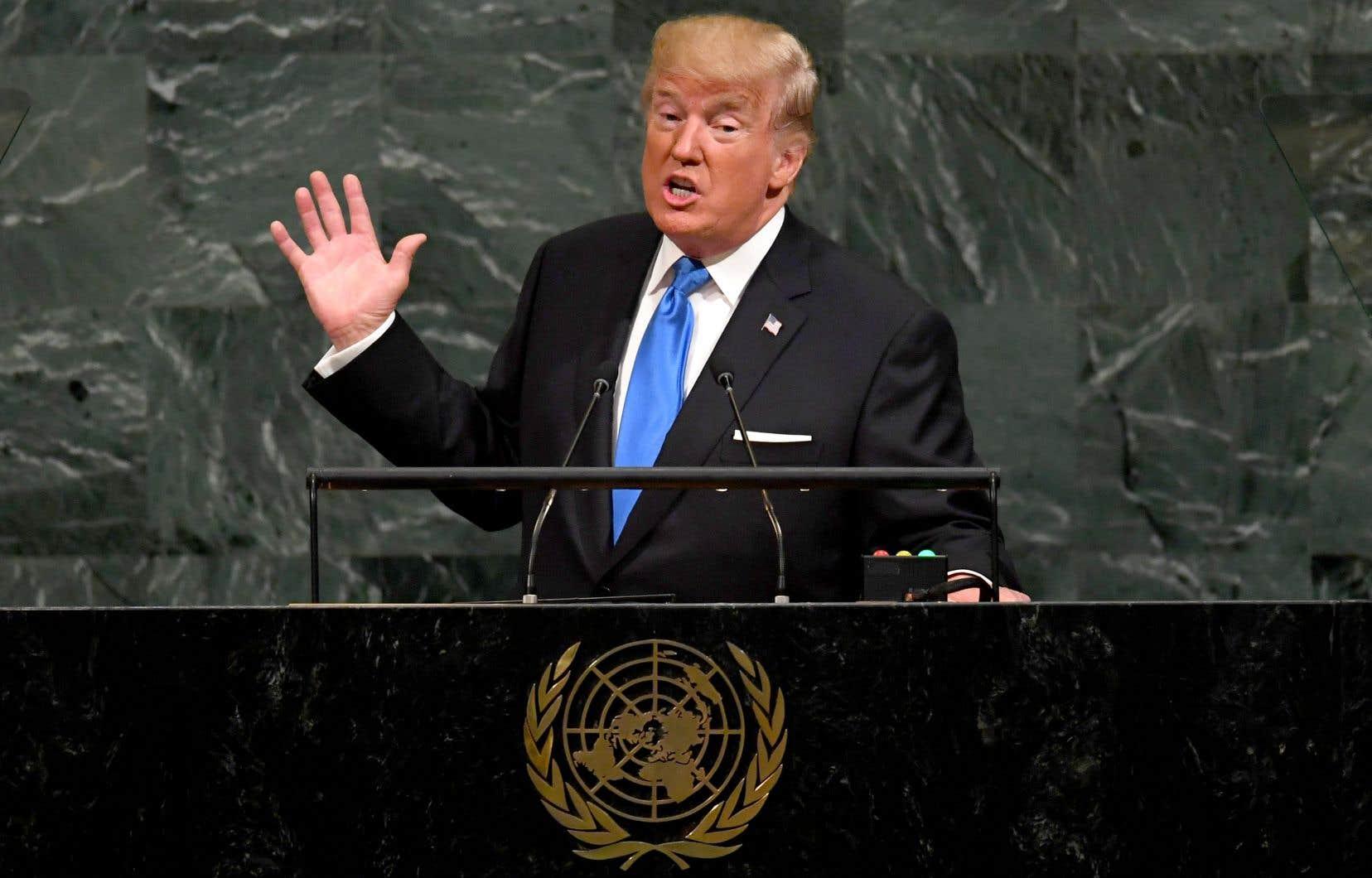Le président Donald Trump s'était adressé à la 72e Assemblée générale annuelle des Nations unies à New York, le 19 septembre 2017.