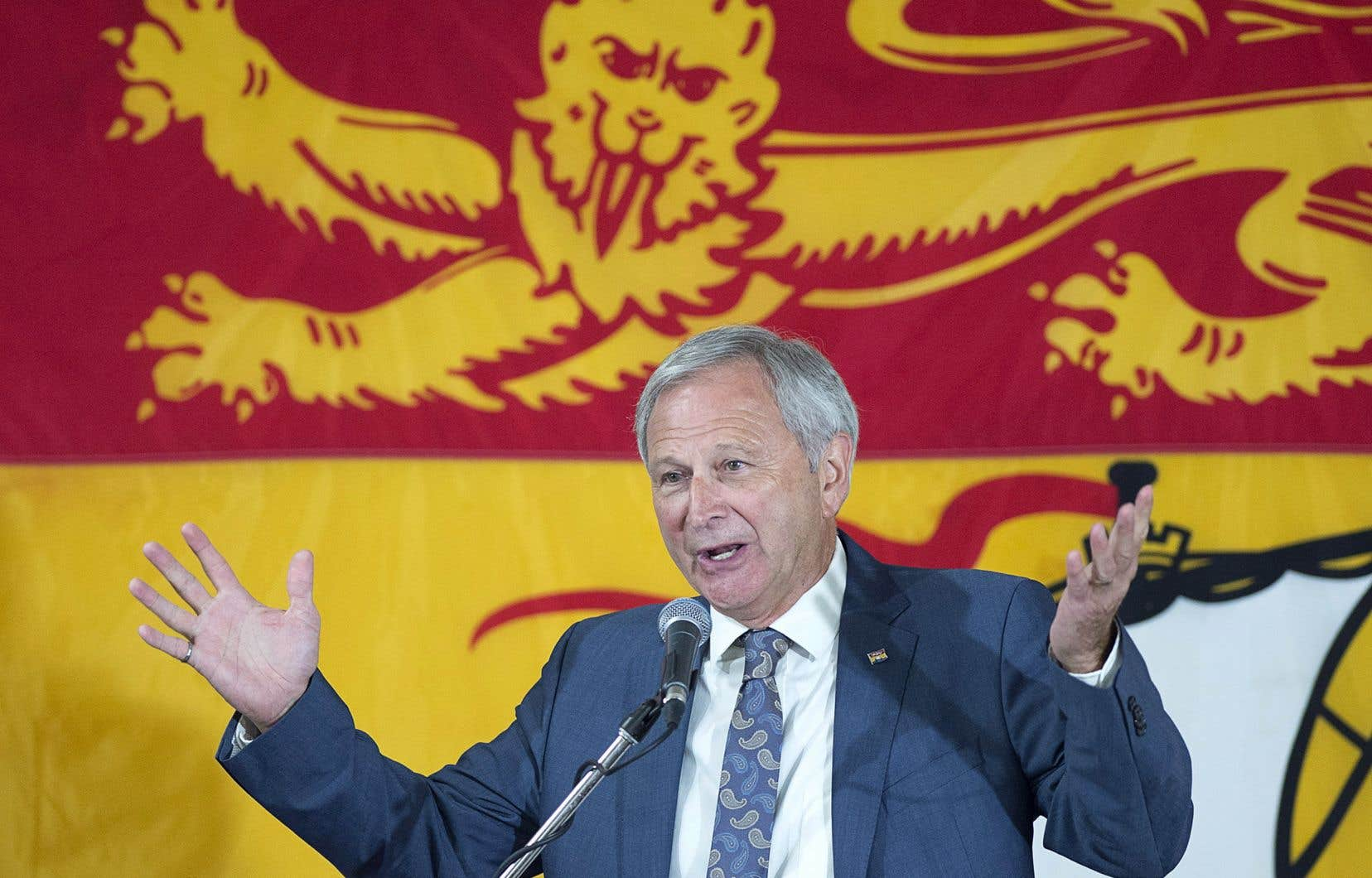 Le chef du Partiprogressiste-conservateur, Blaise Higgs, s'est dit prêt à«se mettre au service du Nouveau-Brunswick».