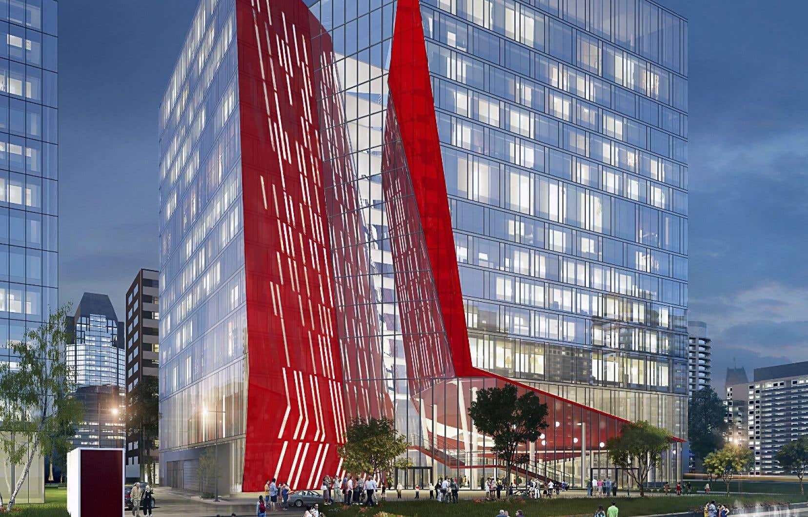 L'Office national du film aura désormais pignon sur rue en plein cœur du Quartier des spectacles, au centre-ville de Montréal, et occupera six étages dans l'îlot Balmoral.