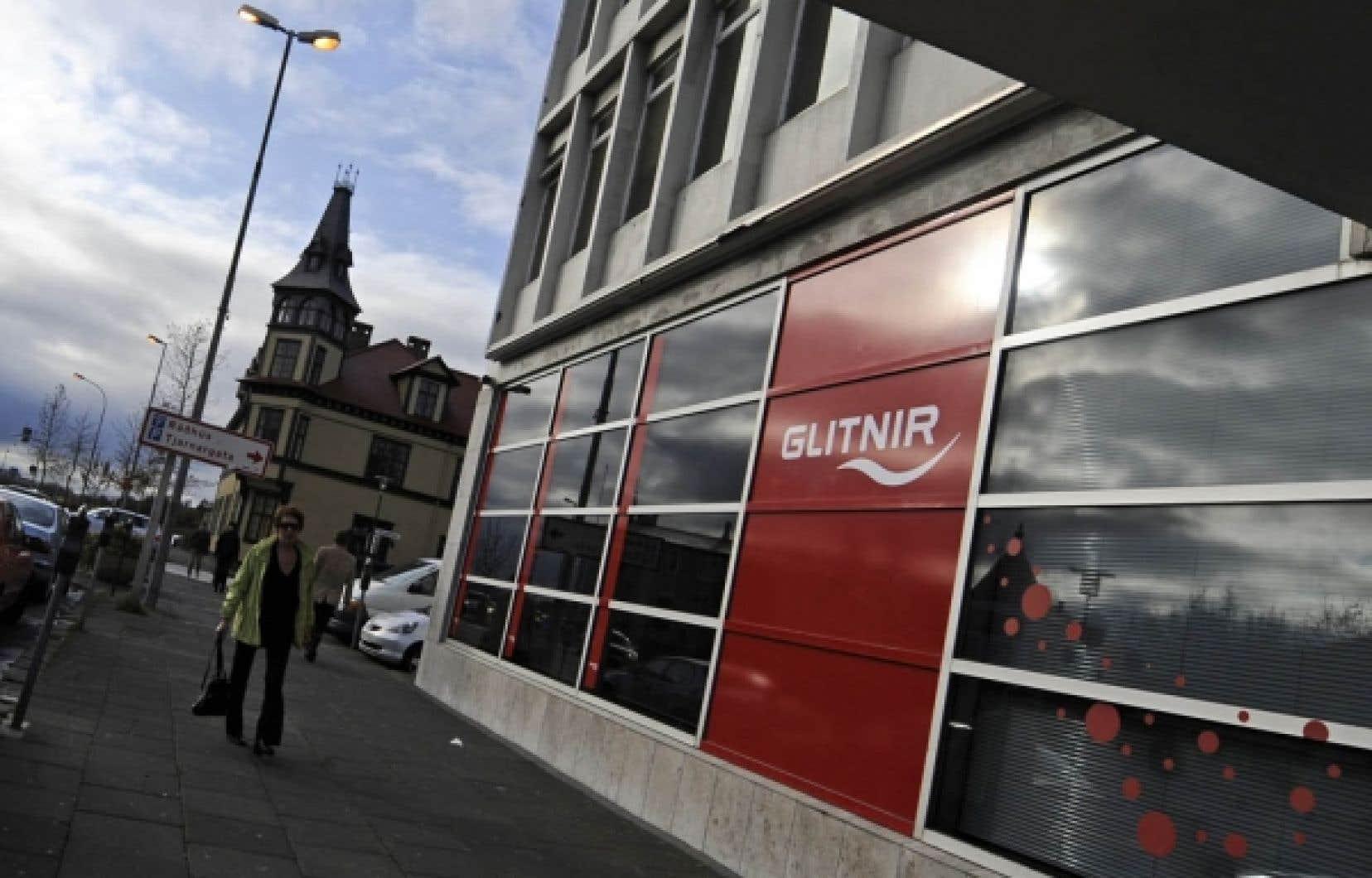 Une succursale de la banque Glitnir, à Reykjavik