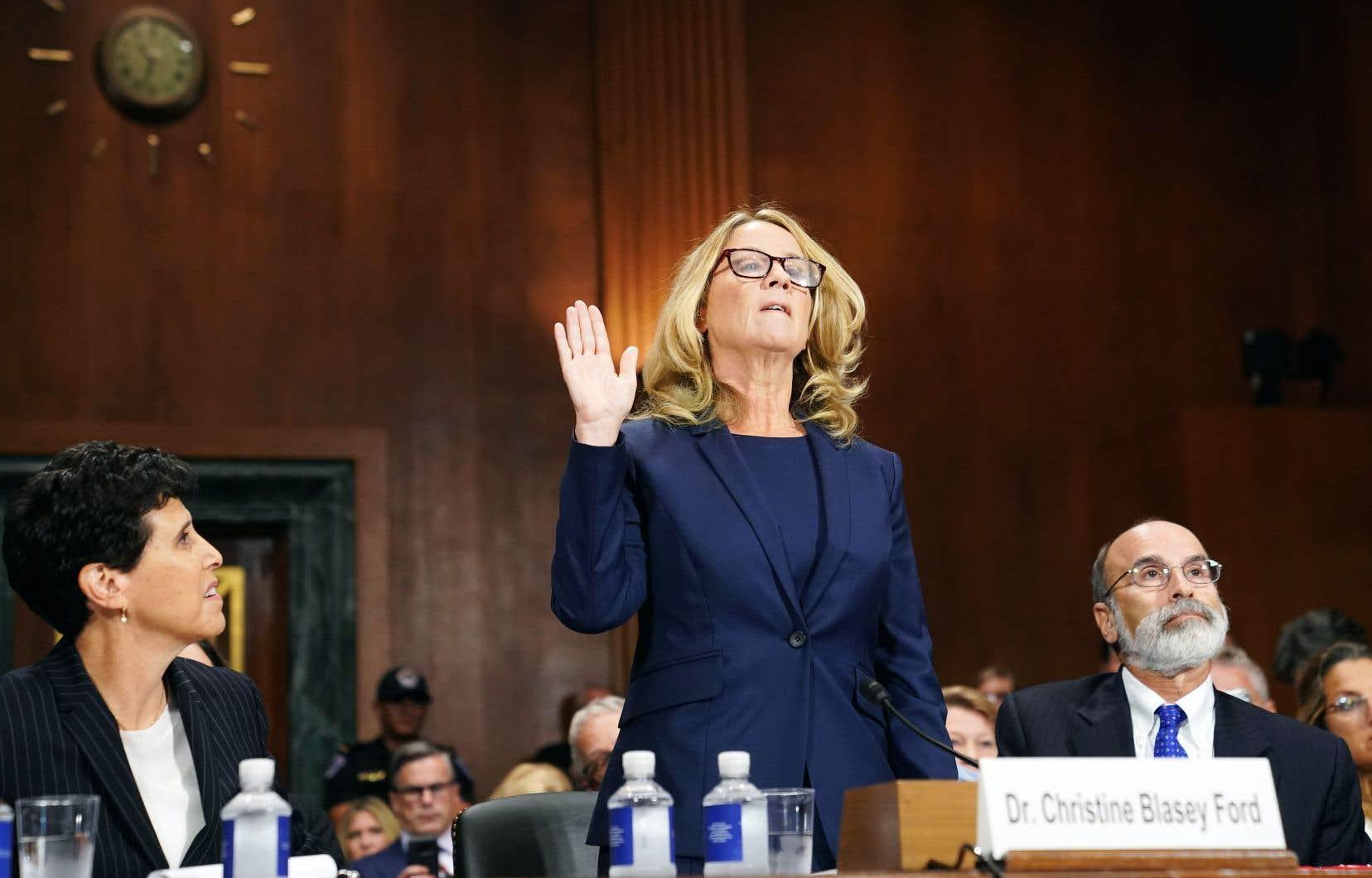 Le témoignage de Christine Blasey vient mettre le feu aux poudres dans une campagne politique hautement partisane.