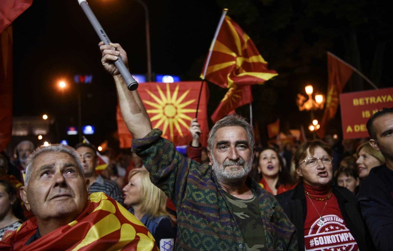 90,72% des électeurs qui ont pris part à ce scrutin consultatif ont approuvé la nouvelle appellation de «République de Macédoine du Nord».