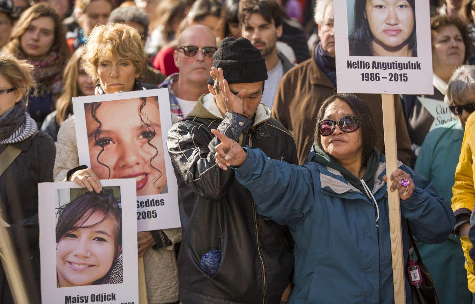 Marche pour les femmes autochtones assassinées ou disparues, le 4 octobre 2015
