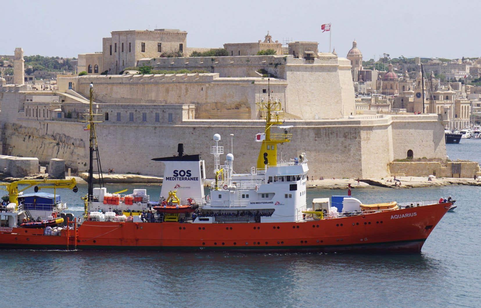 L'«Aquarius» dans le port de Malte, en août dernier