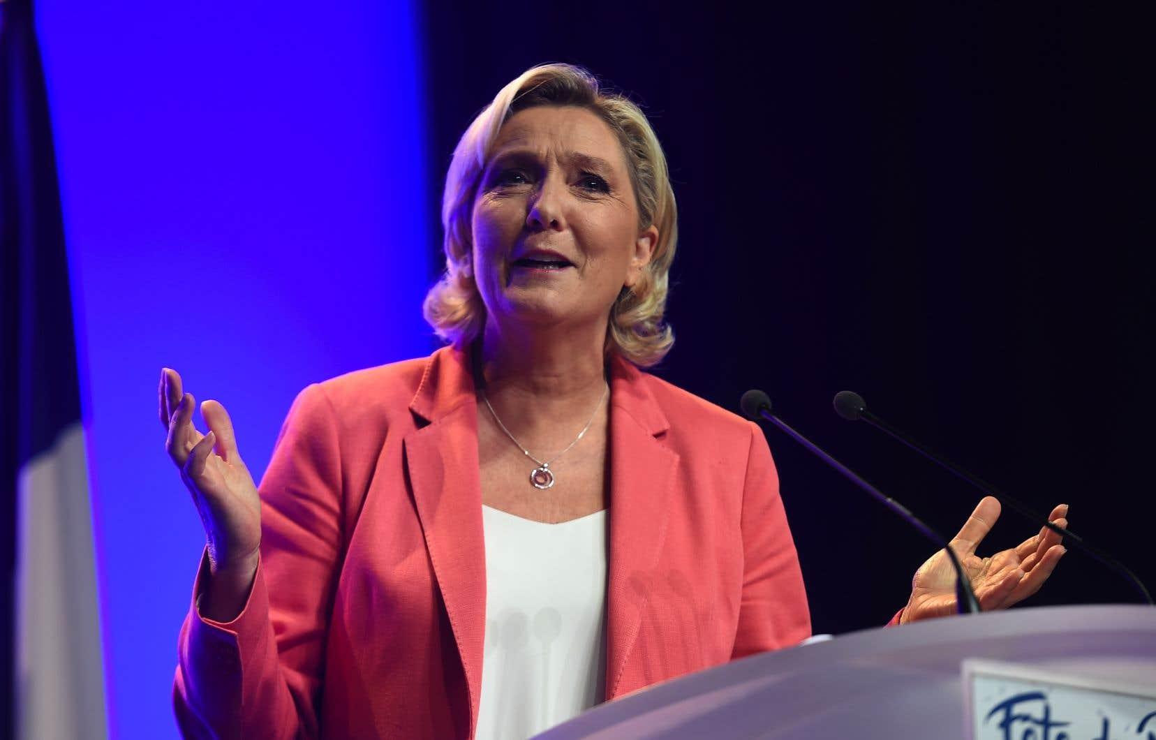 La chef de l'extrême droite française, Marine Le Pen