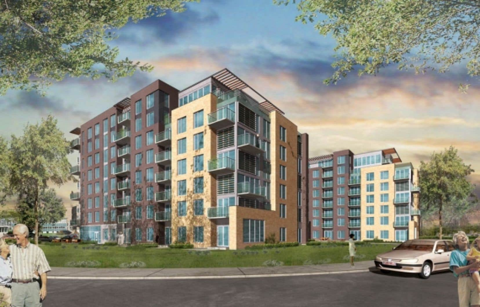 Le Phoenix, boulevard Henri-Bourassa, est un projet conduit par la Société d'habitation et de développement de Montréal qui est certifié LEED Argent.